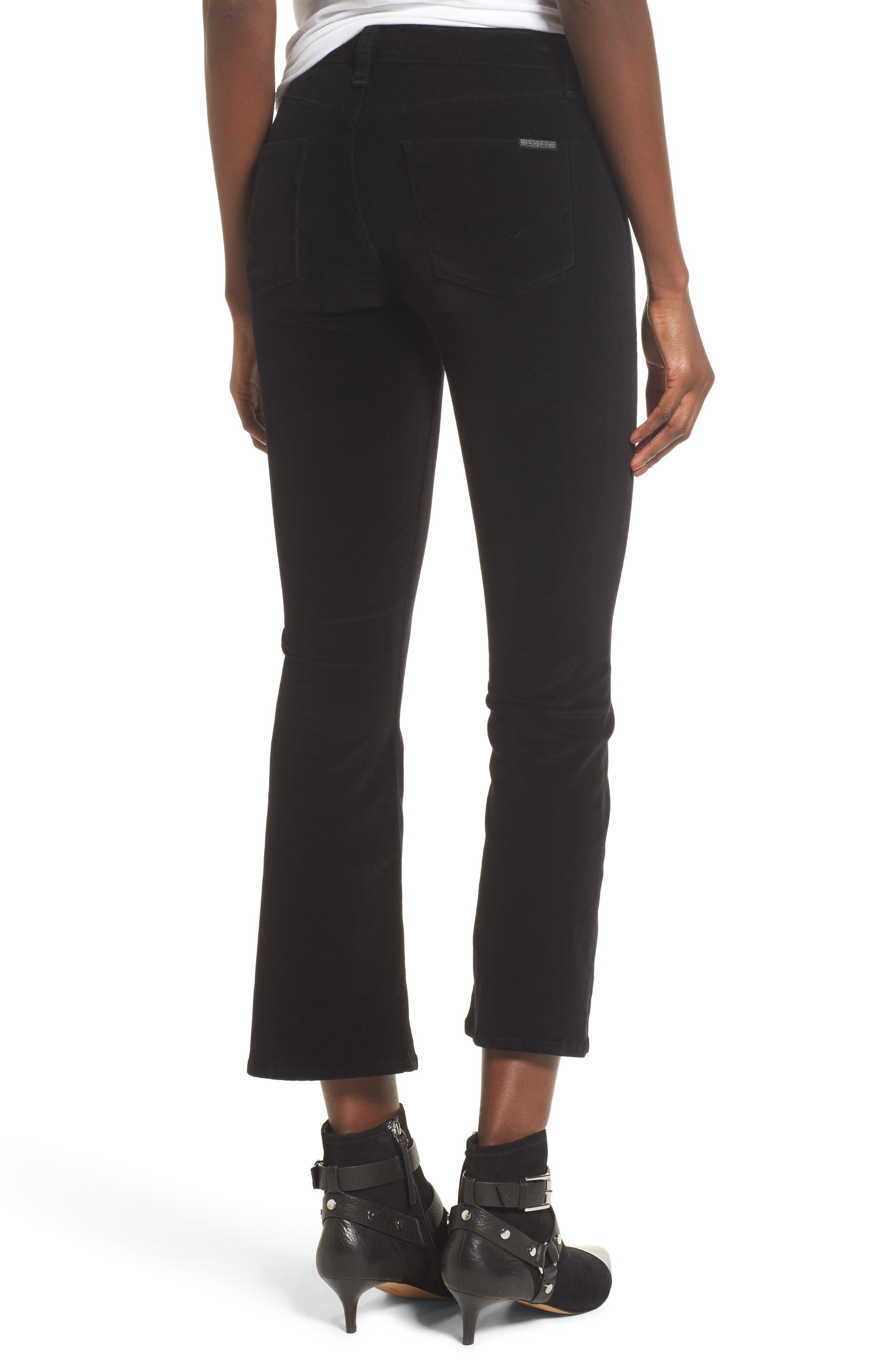 Alternate Image 2  - Hudson Jeans Brix Velvet High Waist Crop Bootcut Pants
