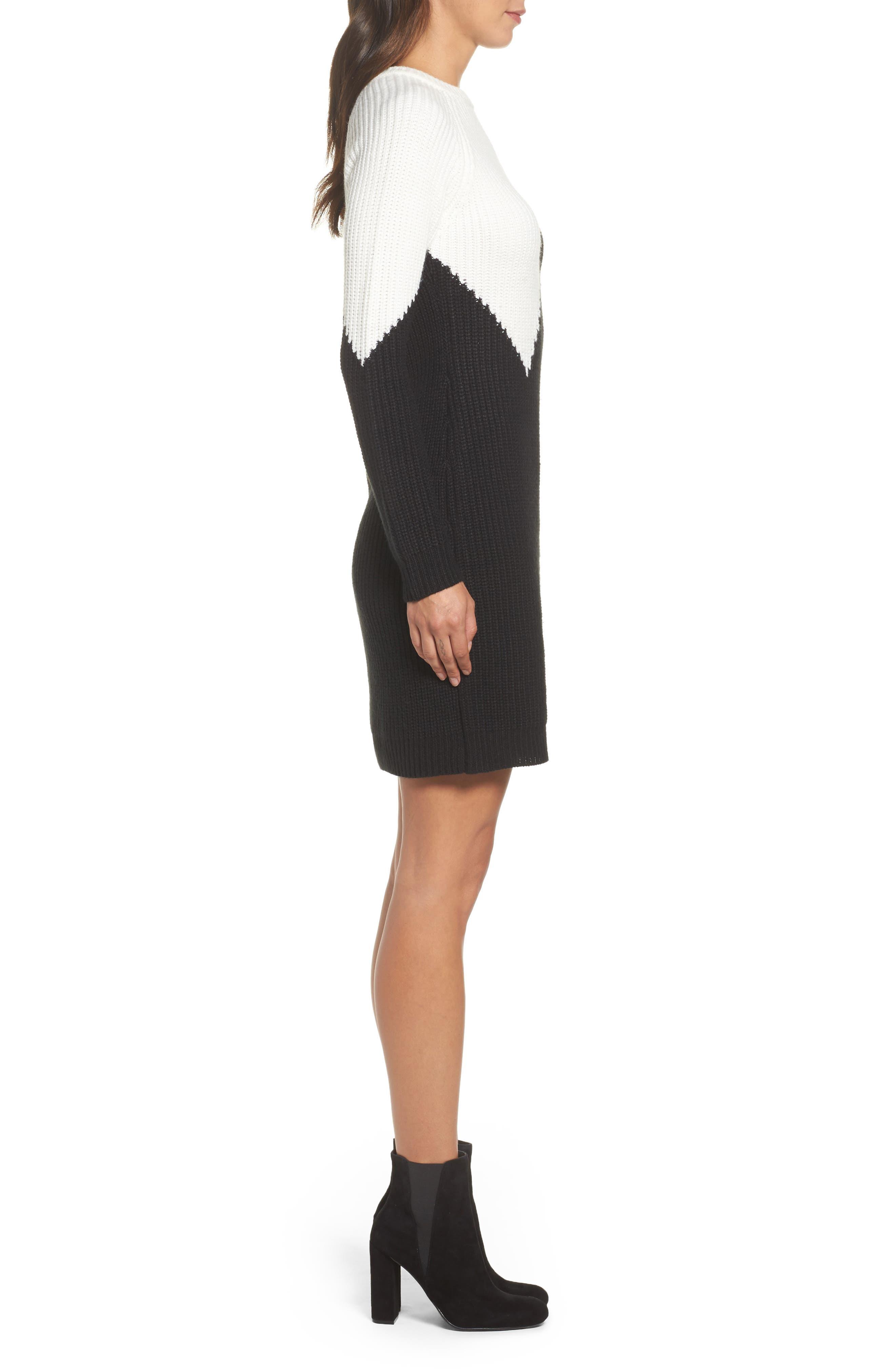 Alternate Image 4  - Vince Camuto Colorblock Sweater Dress (Regular & Petite)