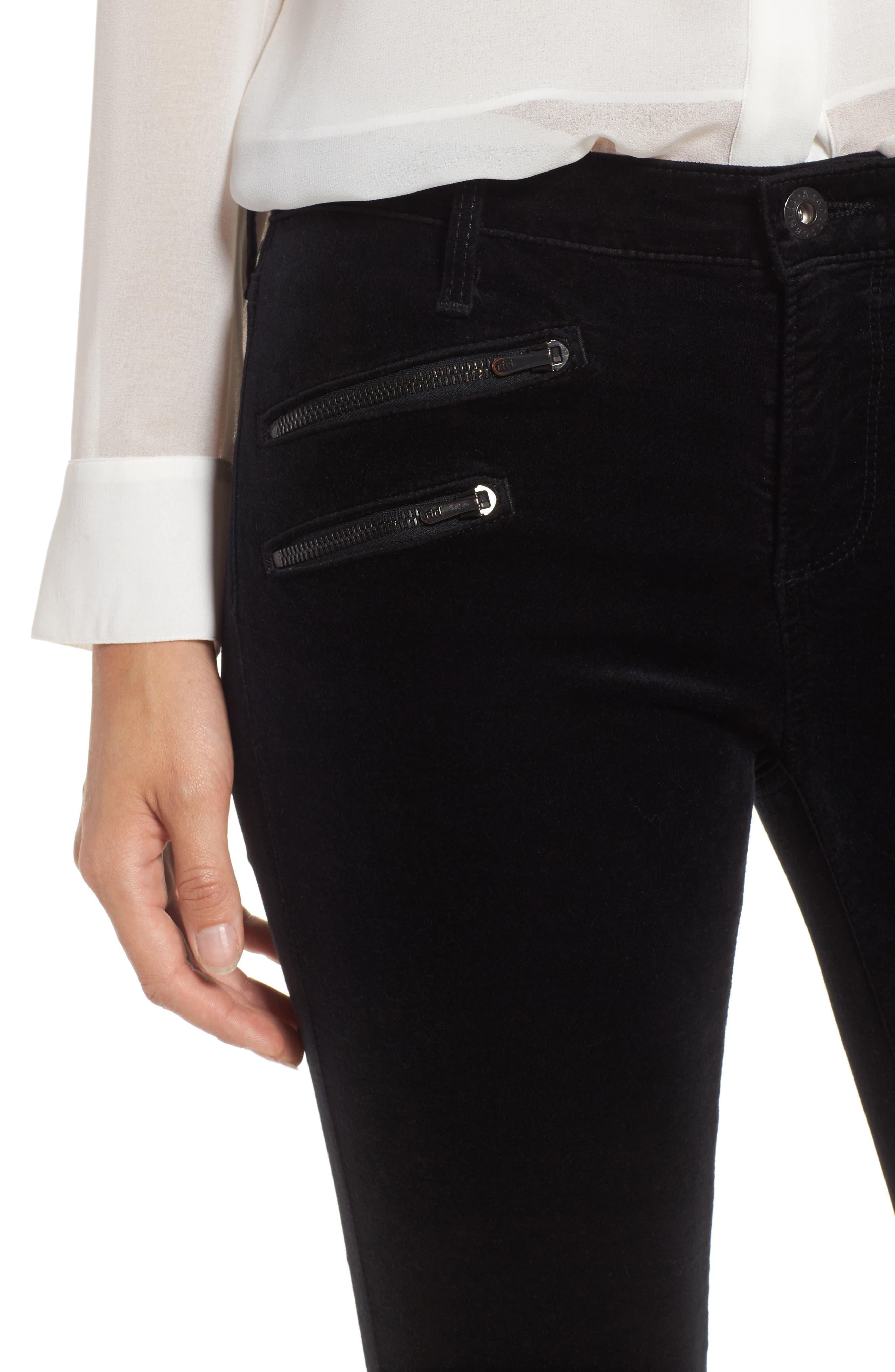 Alternate Image 4  - AG The Legging Ankle Skinny Moto Velvet Pants