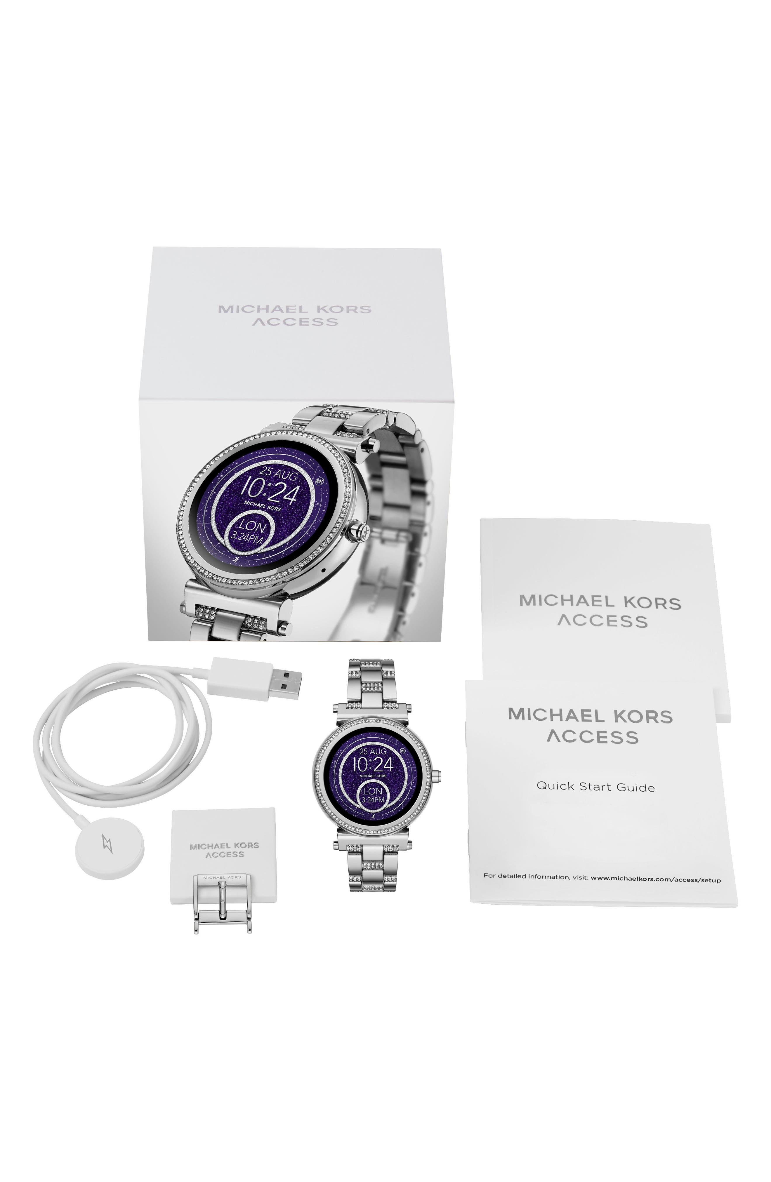 Alternate Image 4  - Michael Kors Access Sofie Smart Bracelet Watch, 42mm