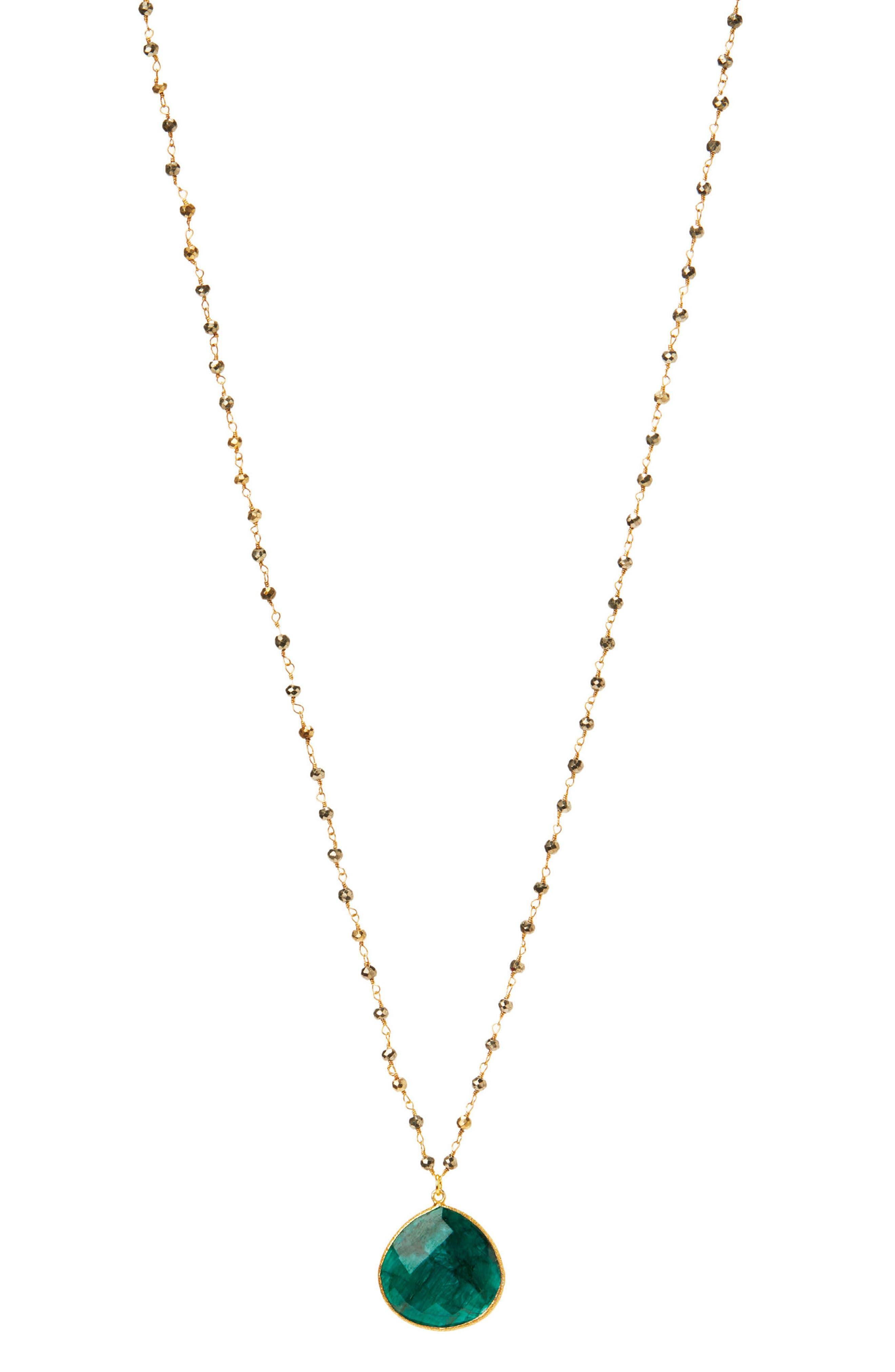 Jemma Sands Monterey Semiprecious Stone Pendant Necklace