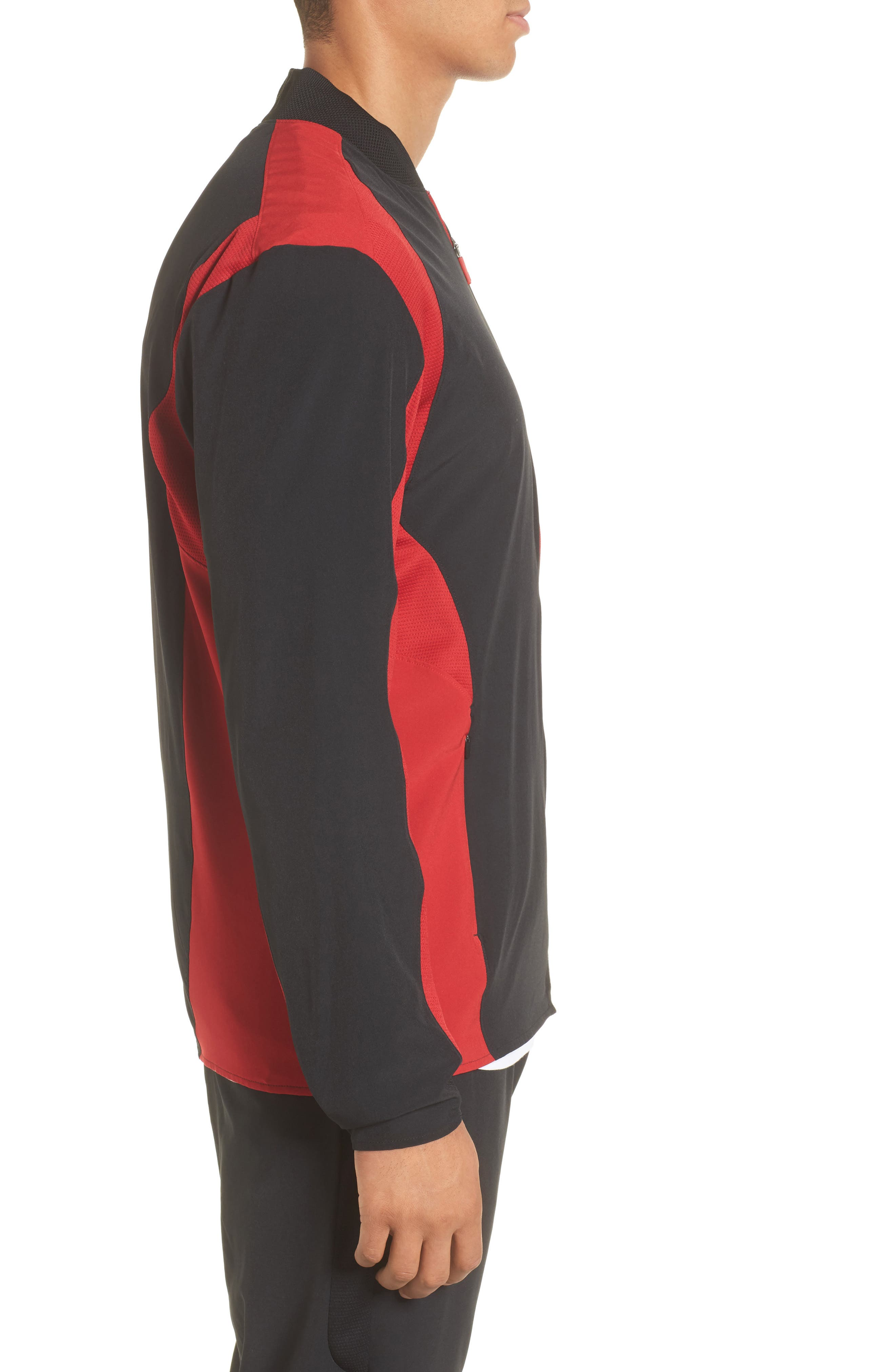 Ultimate Flight Zip Jacket,                             Alternate thumbnail 3, color,                             Black/ Gym Red
