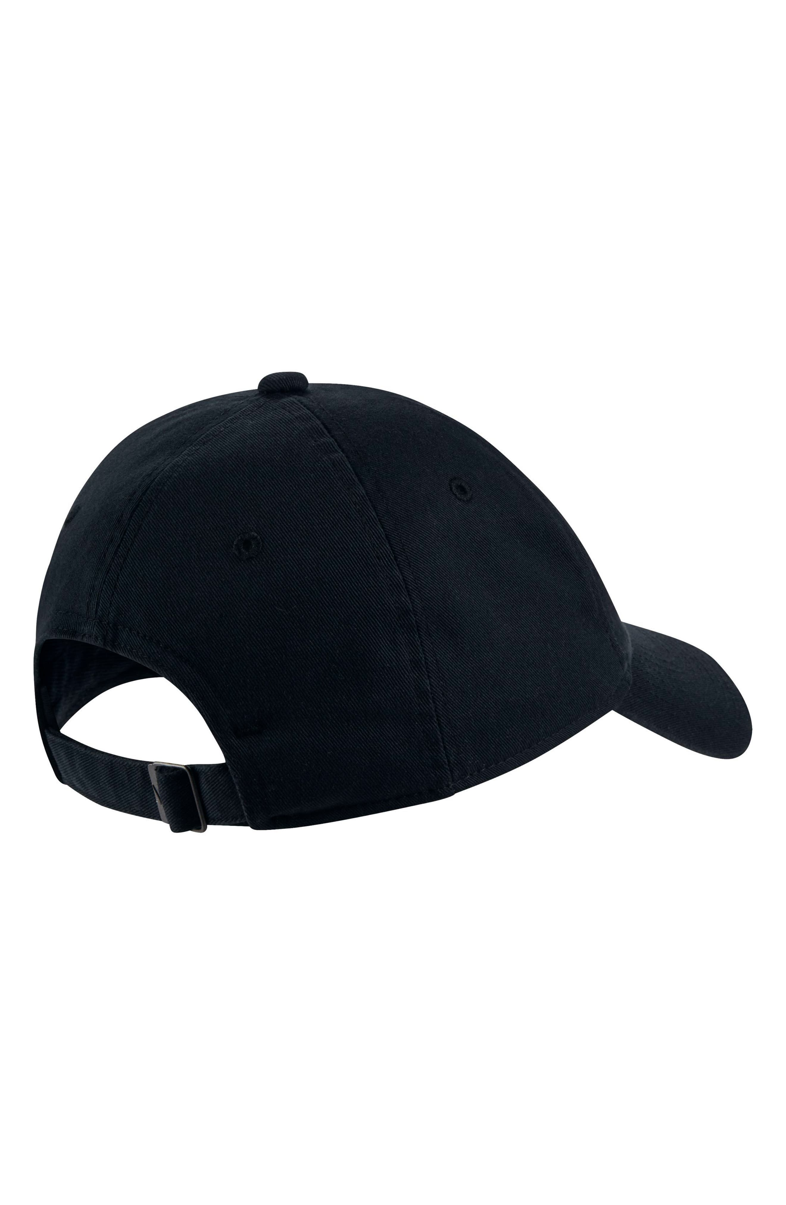 Women's H86 Swoosh Hat,                             Alternate thumbnail 2, color,                             Black/ White