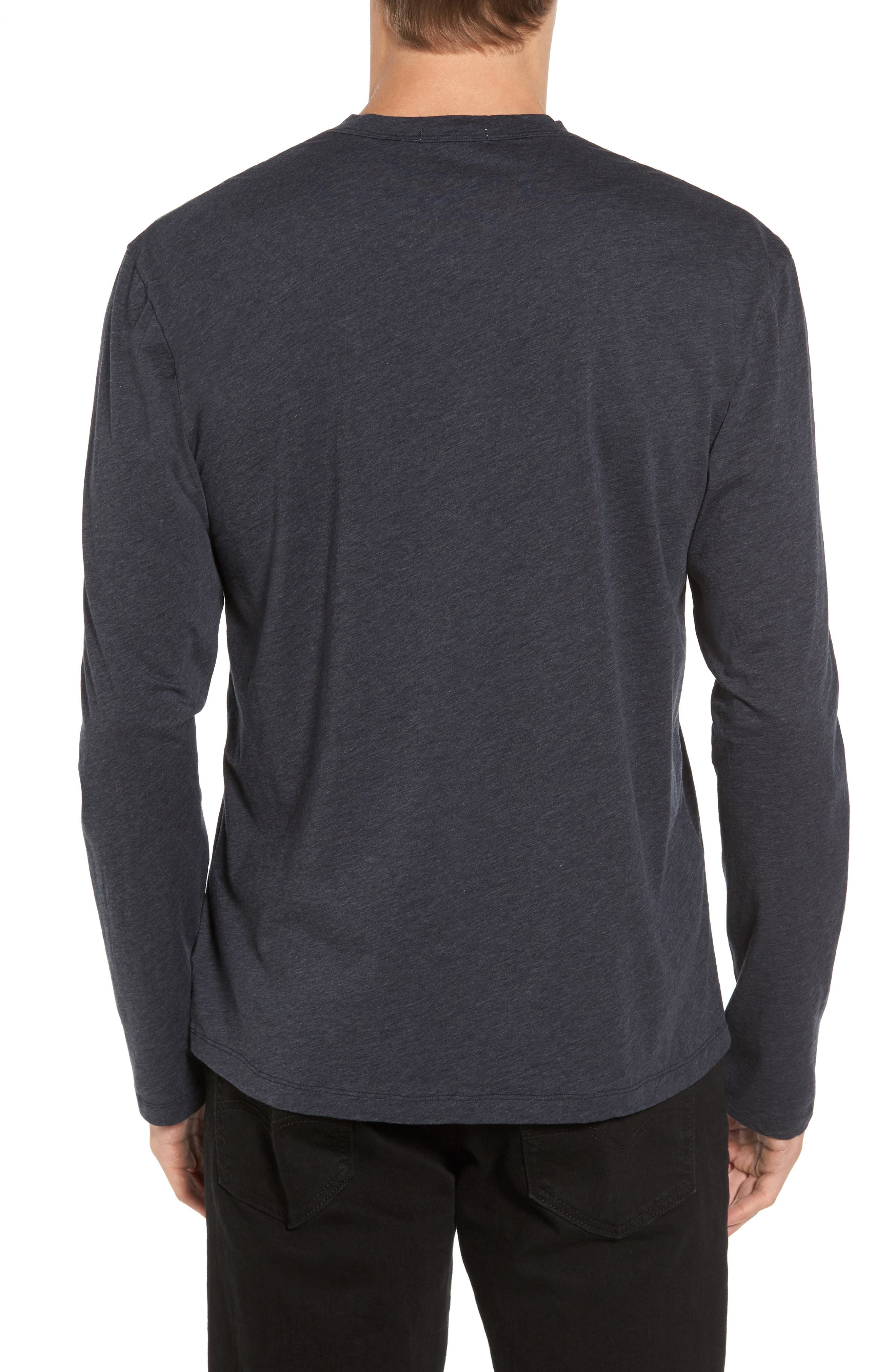 Alternate Image 2  - James Perse Long Sleeve Cotton & Cashmere Henley T-Shirt