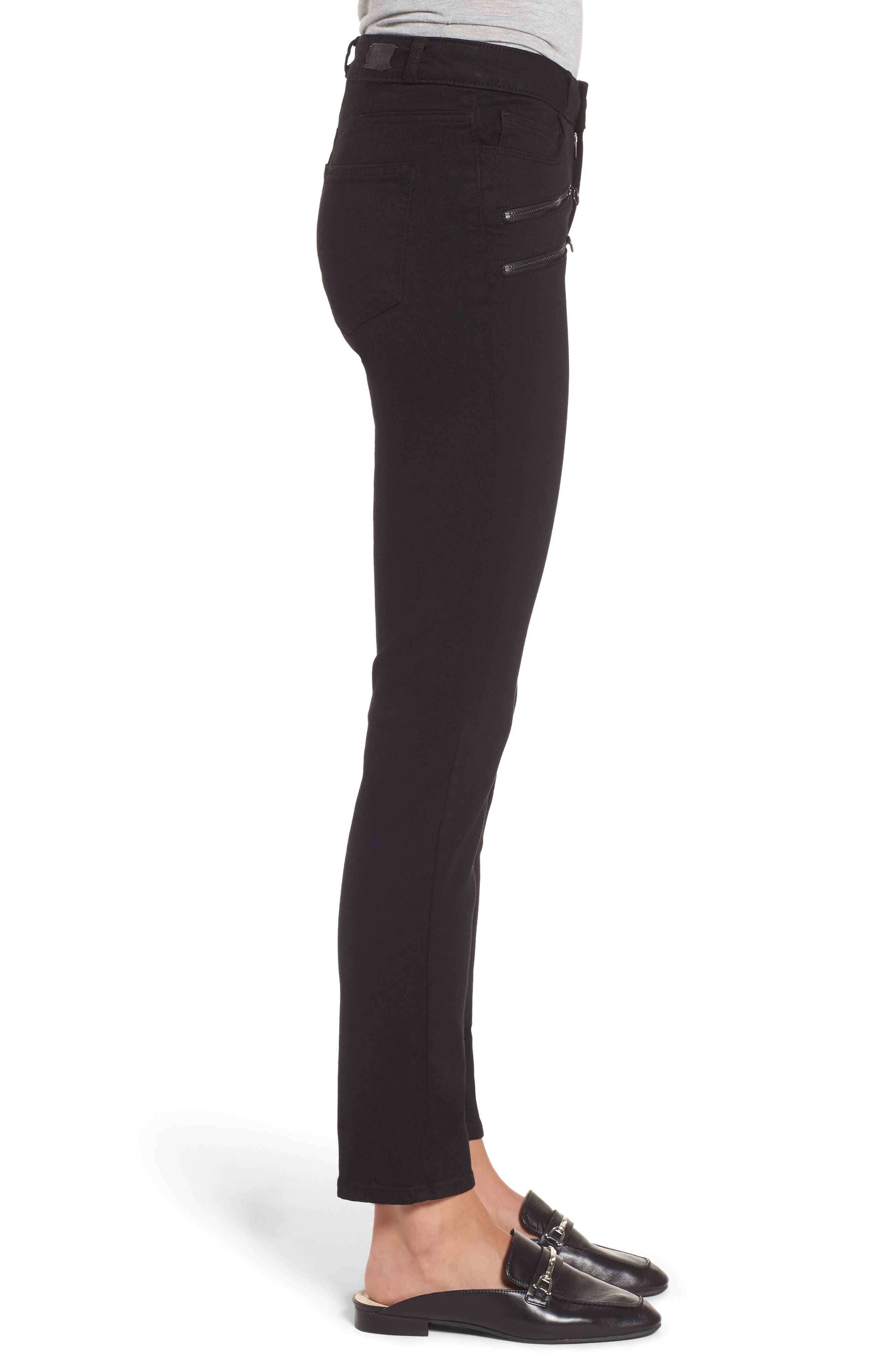 Alternate Image 4  - PAIGE Transcend - Kylo High Waist Skinny Jeans (Black Shadow)
