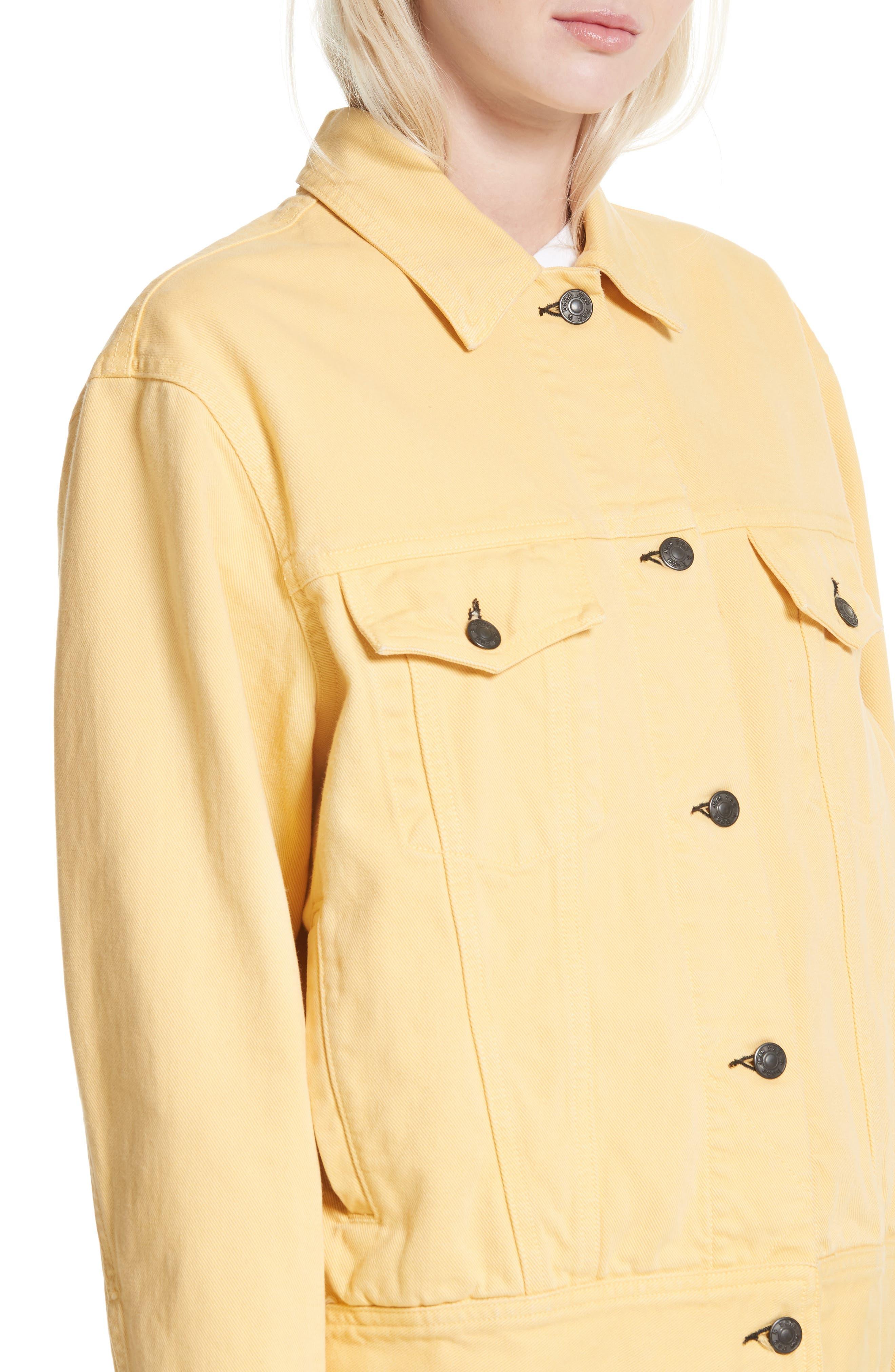 rag & bone Oversize Twill Jacket,                             Alternate thumbnail 4, color,                             Sunrise
