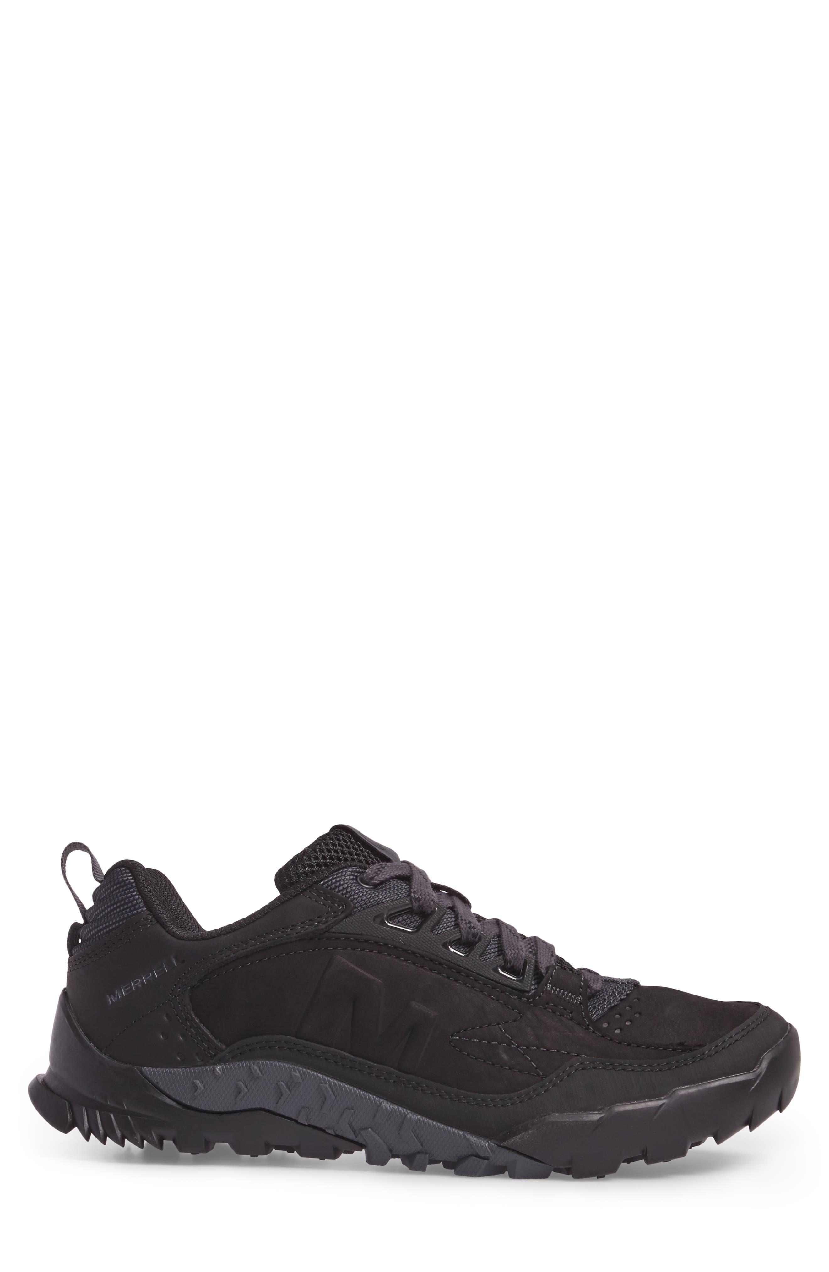 Annex Tak Low Hiking Shoe,                             Alternate thumbnail 3, color,                             Black Nubuck Leather