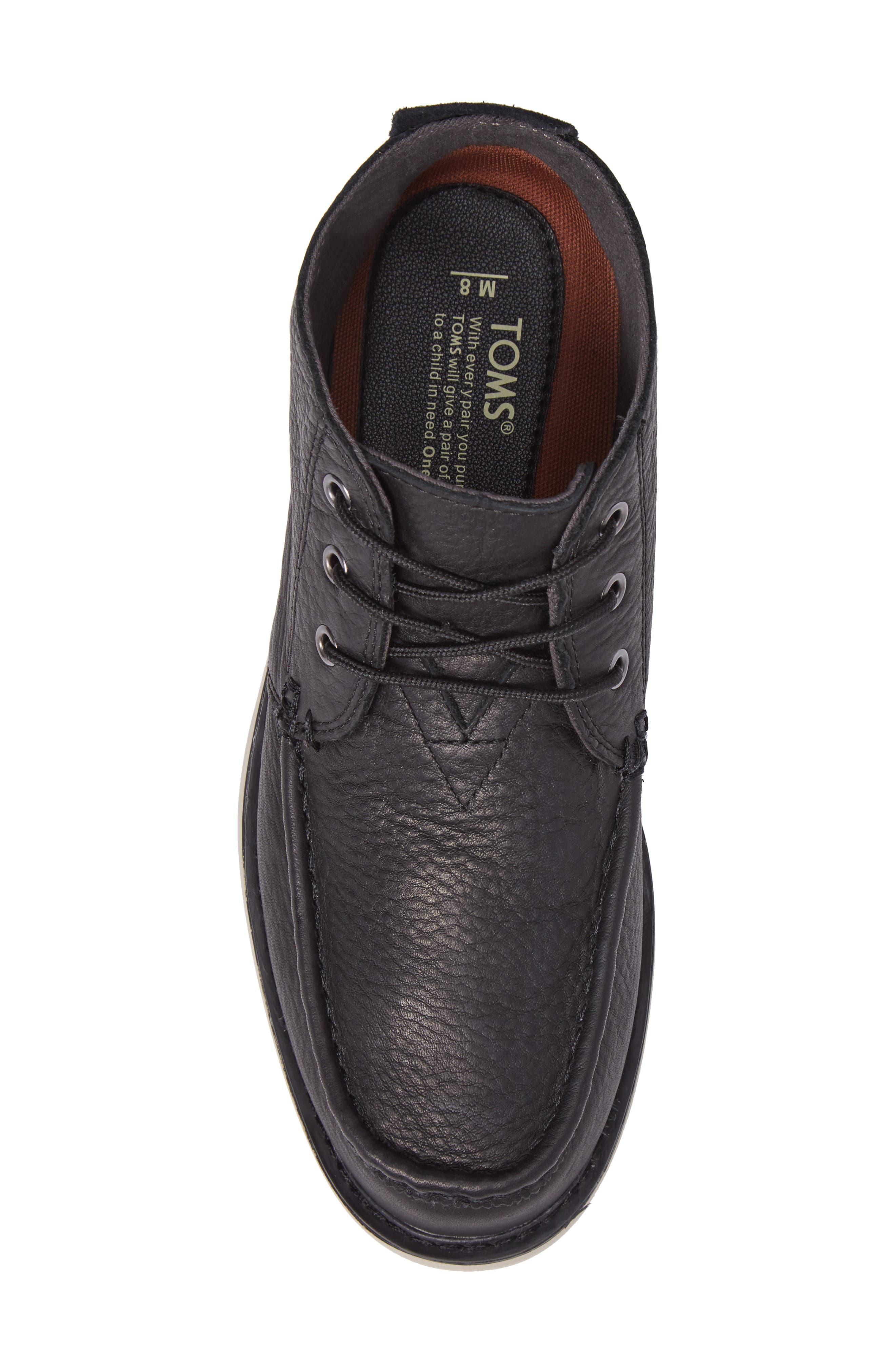 Chukka Boot,                             Alternate thumbnail 5, color,                             Black/Black Leather