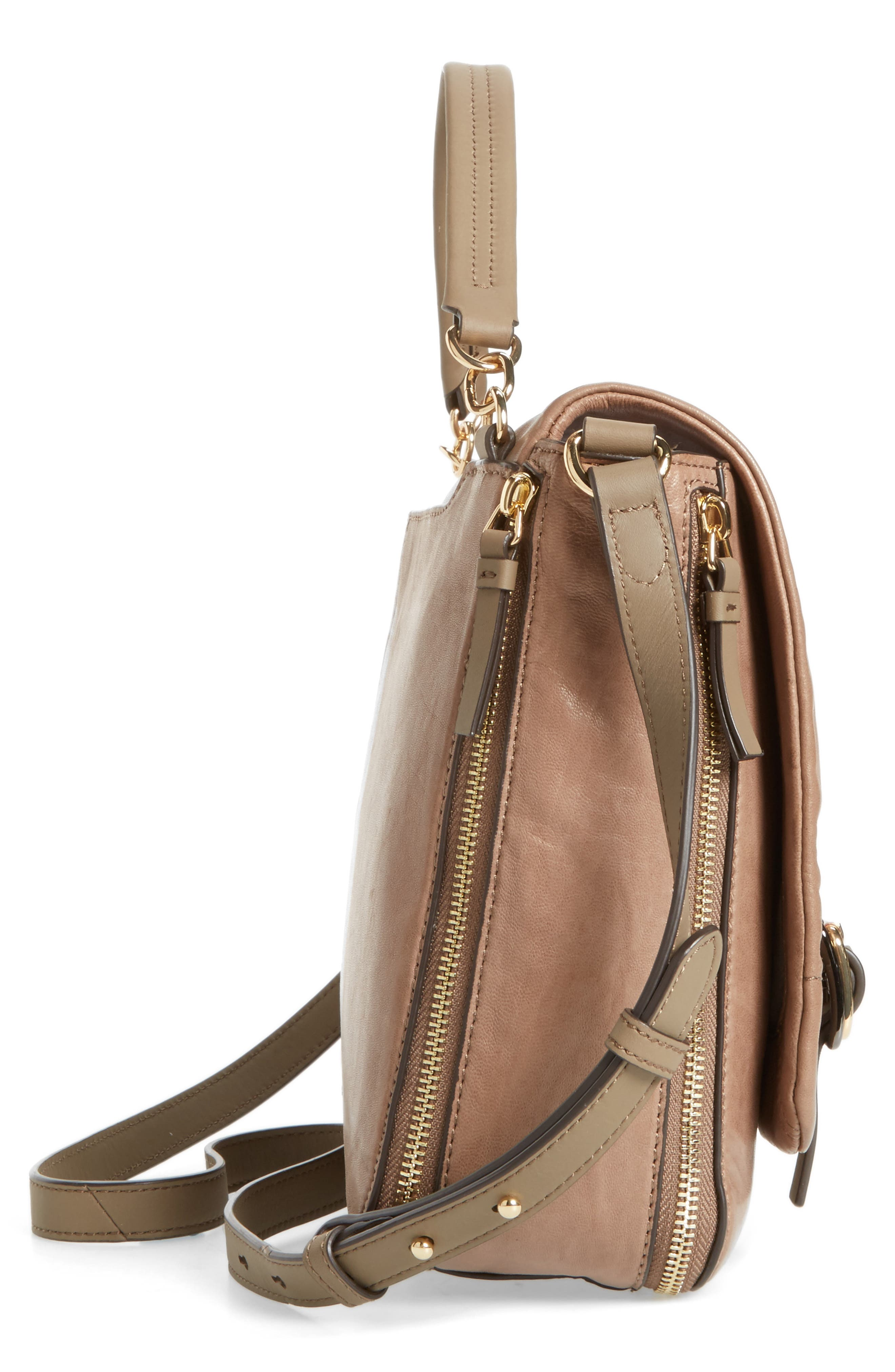 Alternate Image 4  - Vince Camuto Delos Leather Messenger Bag (Nordstrom Exclusive)