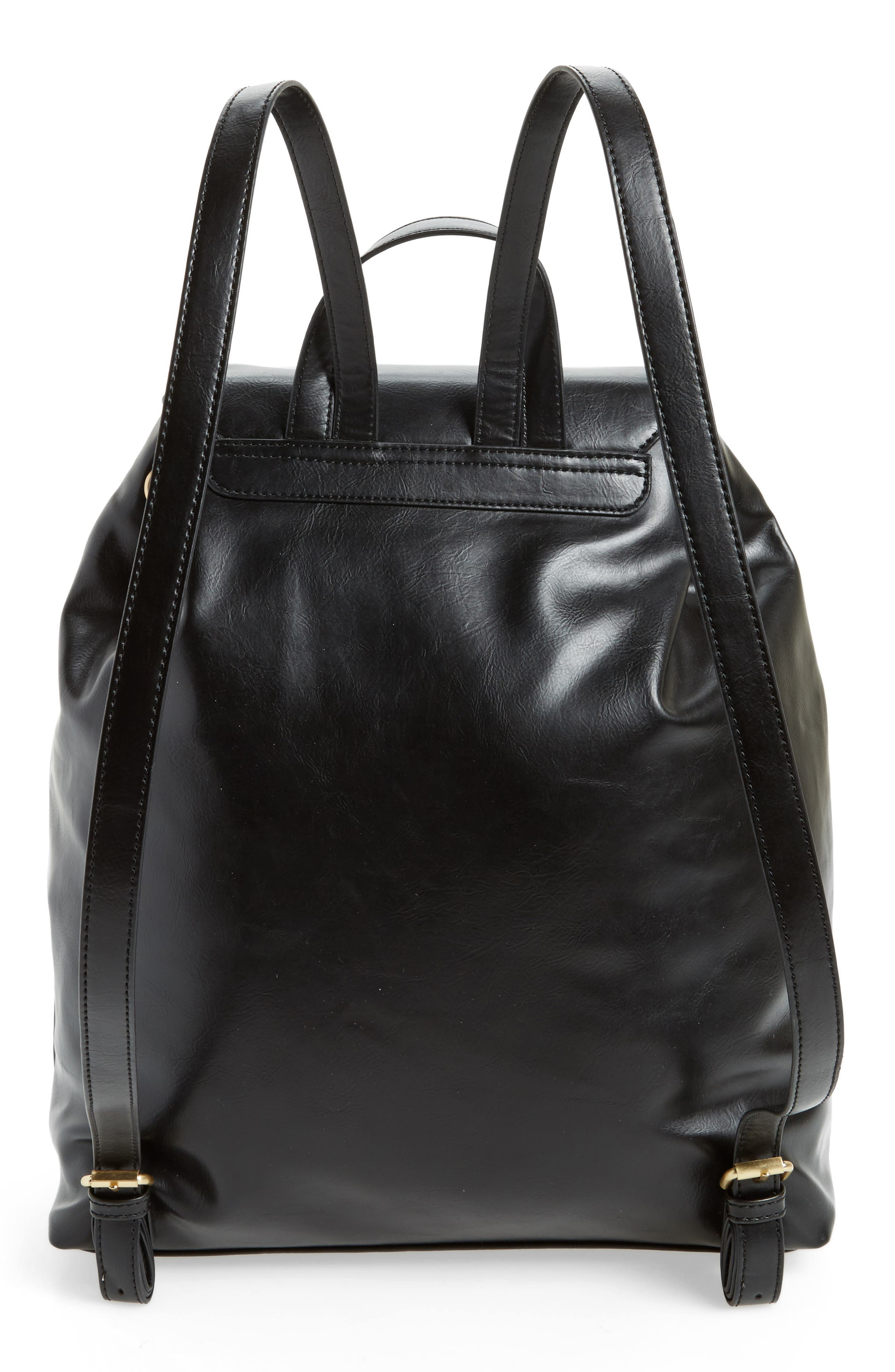 Alternate Image 2  - Sole Society Carly Slouchy Faux Leather Backpack