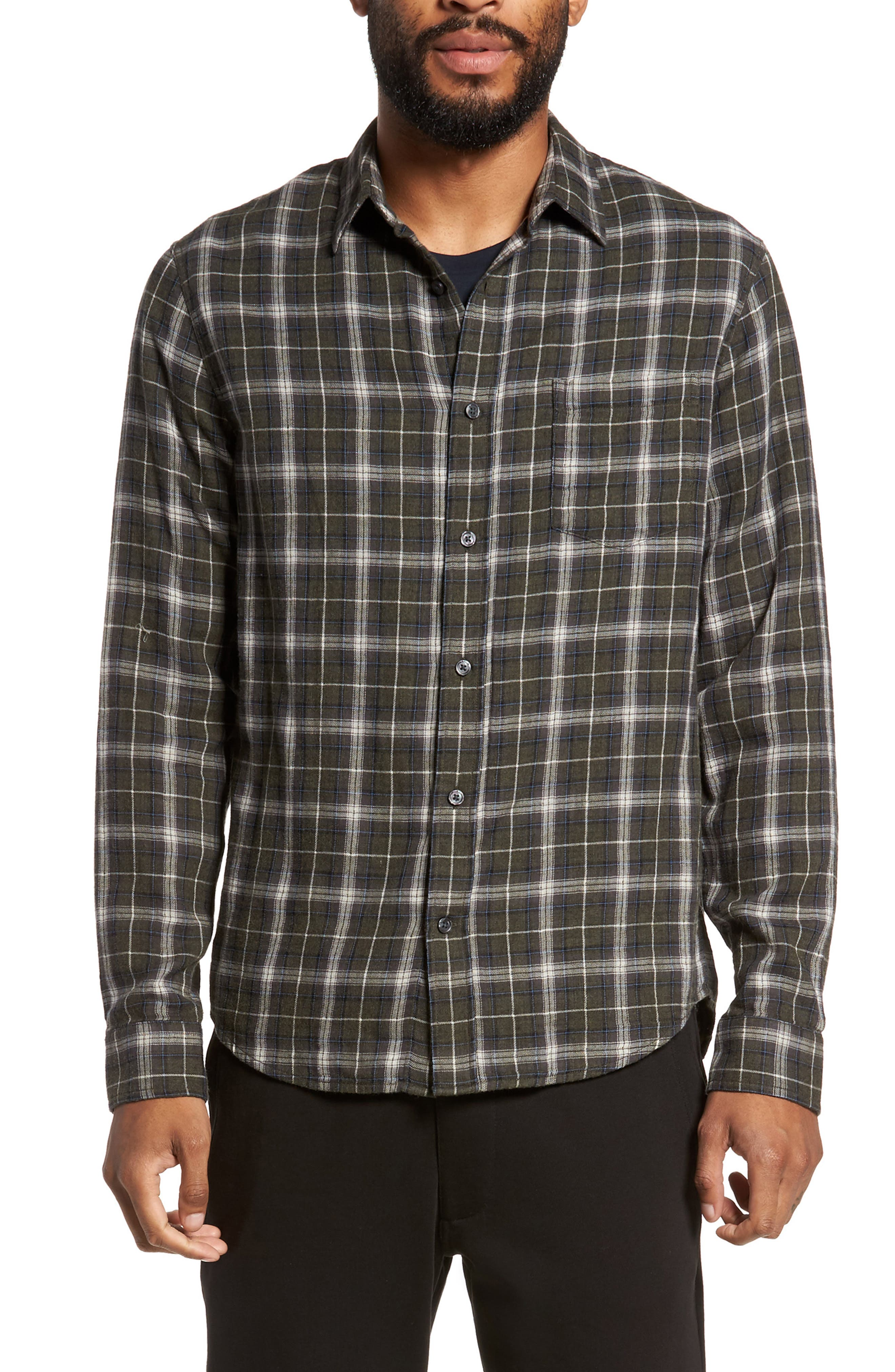 Plaid Double Face Sport Shirt,                         Main,                         color, Underwood
