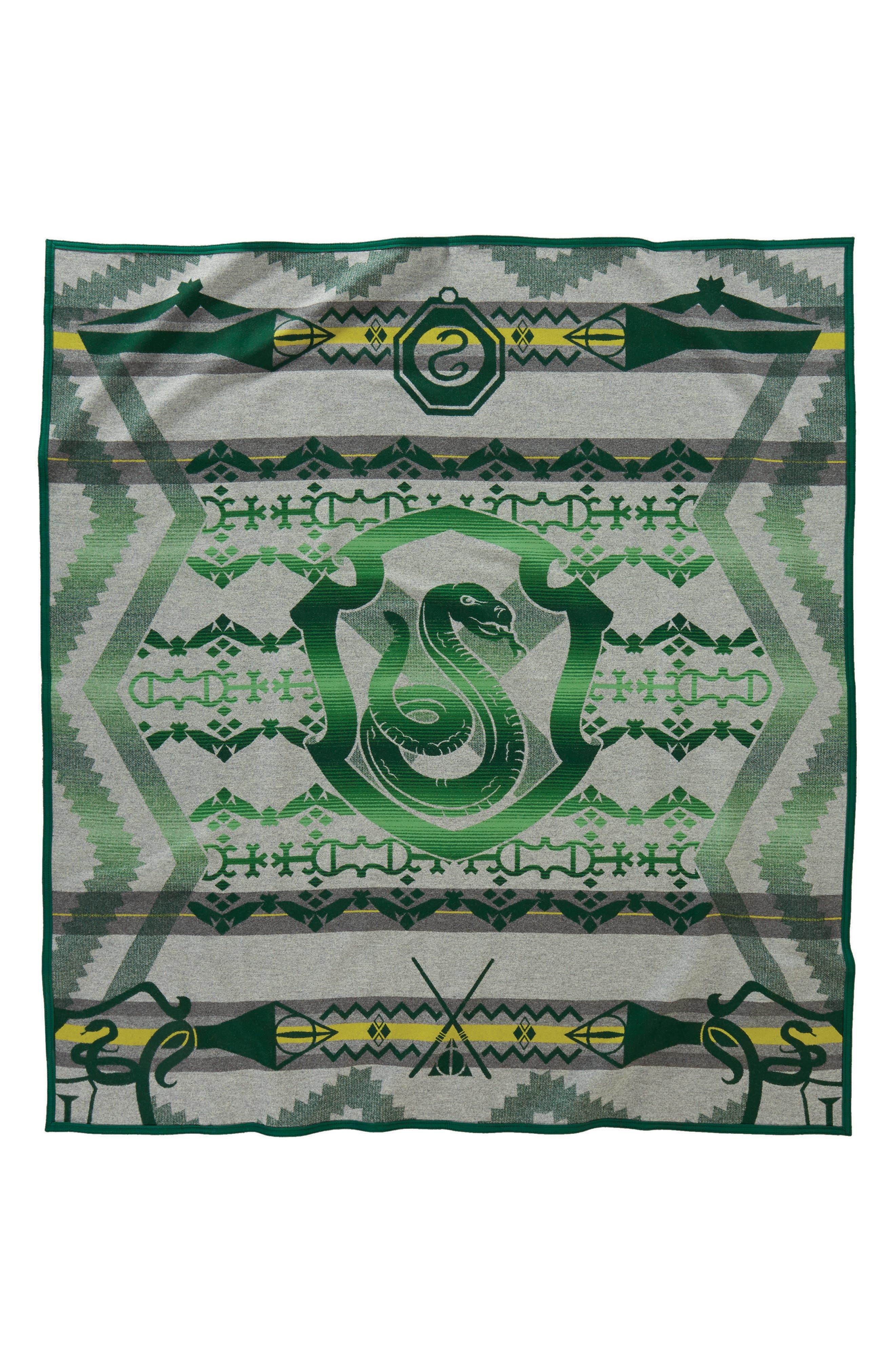 Harry Potter - Slytherin Blanket,                             Alternate thumbnail 2, color,                             Green