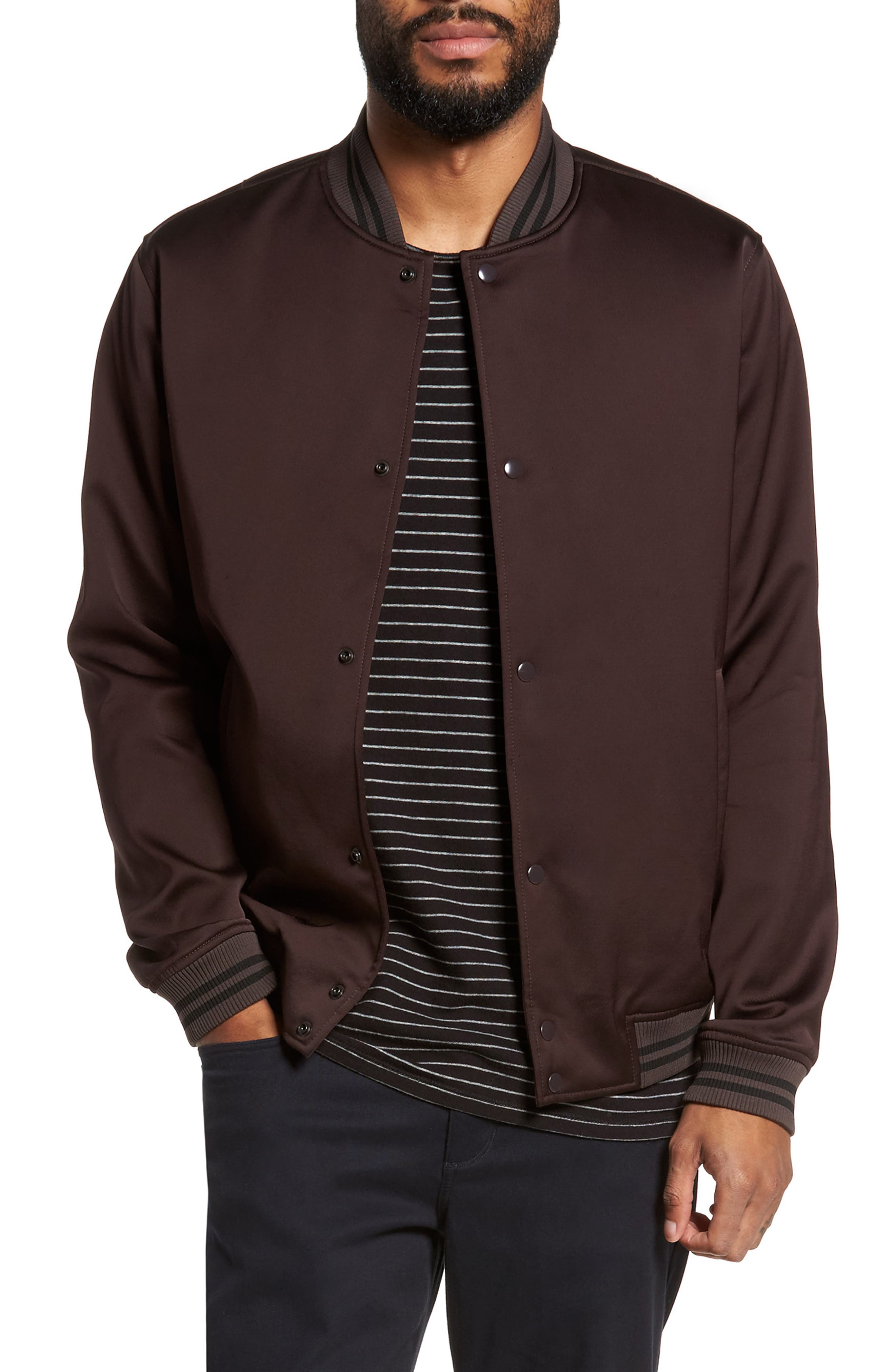 Varsity Jacket,                             Main thumbnail 1, color,                             Zinfandel