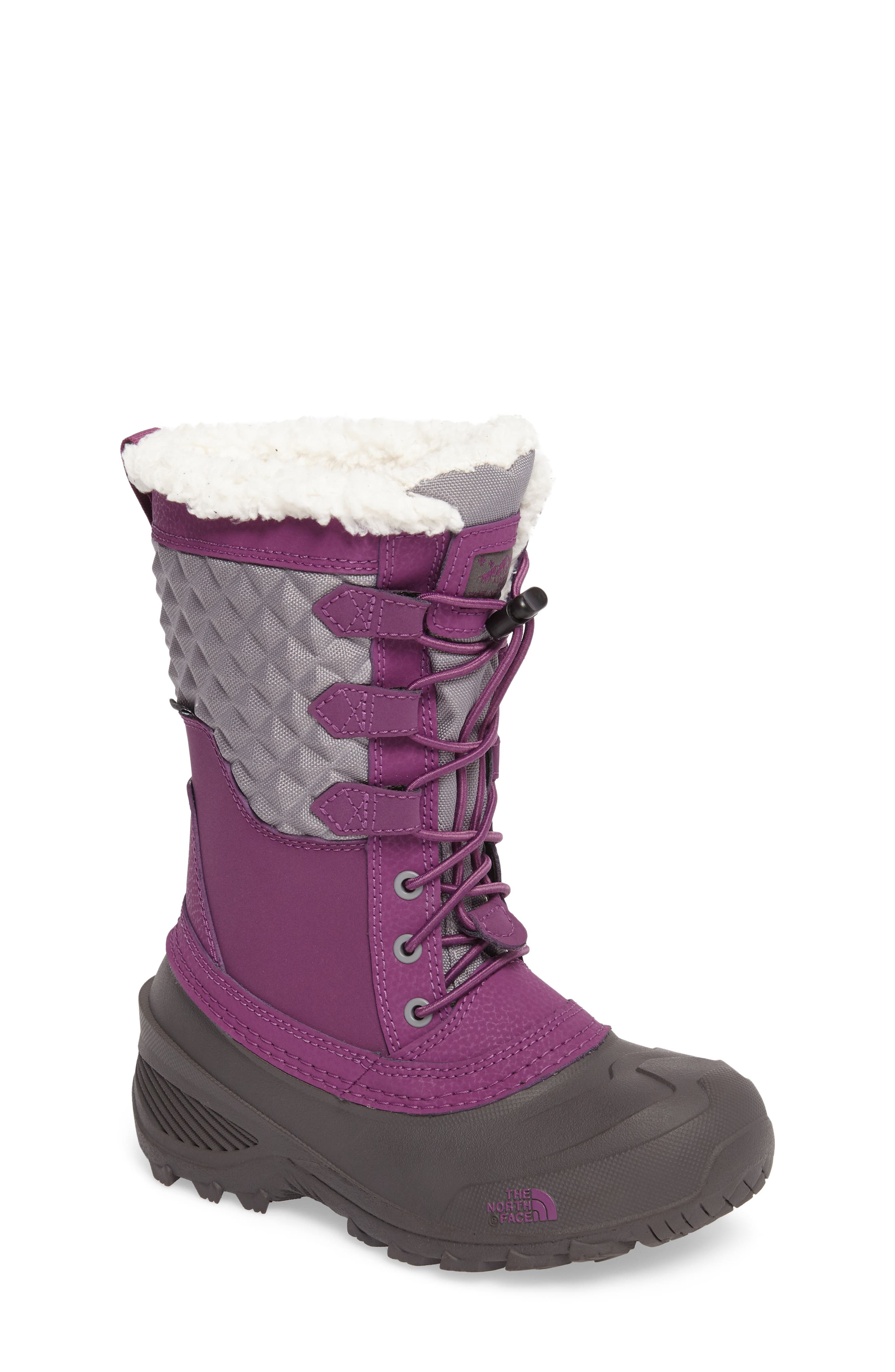 Main Image - The North Face Shellista Lace III Faux Fur Waterproof Boot (Toddler, Little Kid & Big Kid)