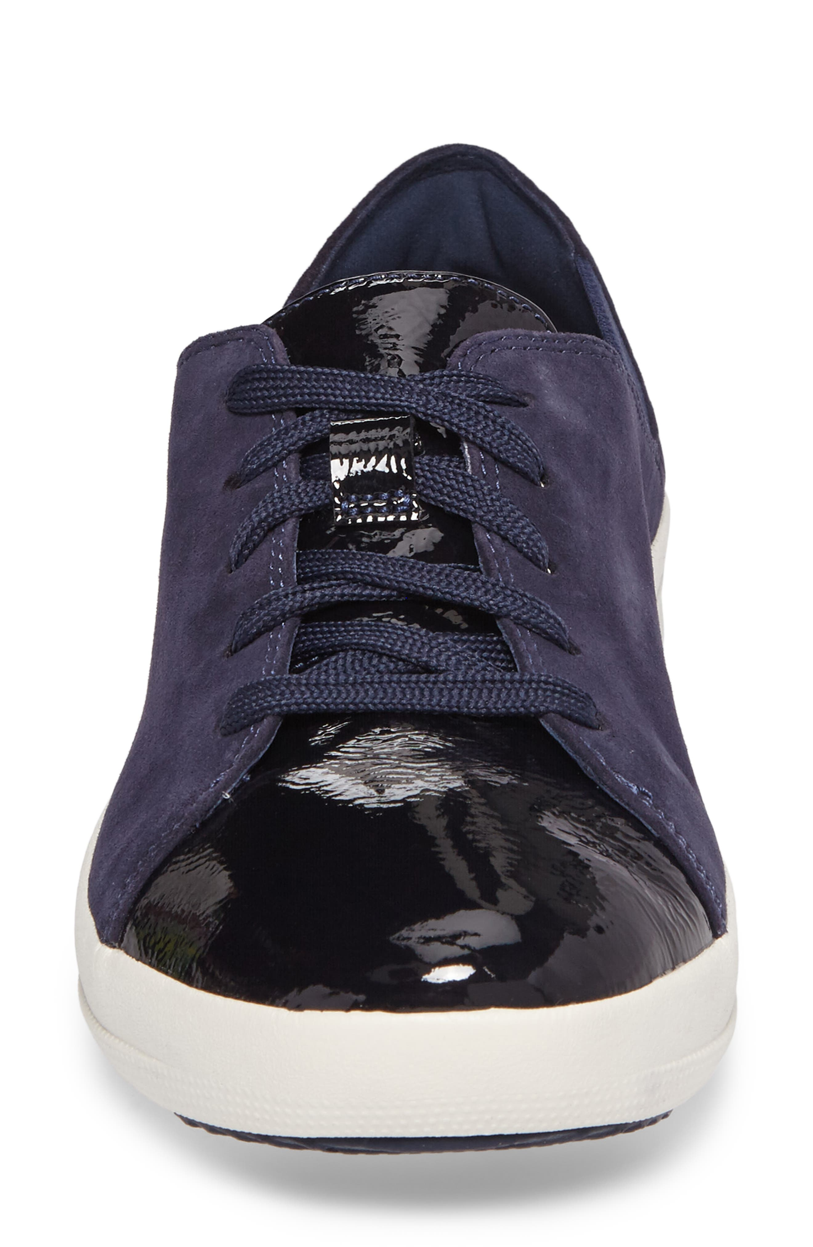 F-Sporty Sneaker,                             Alternate thumbnail 4, color,                             Midnight Navy Mix