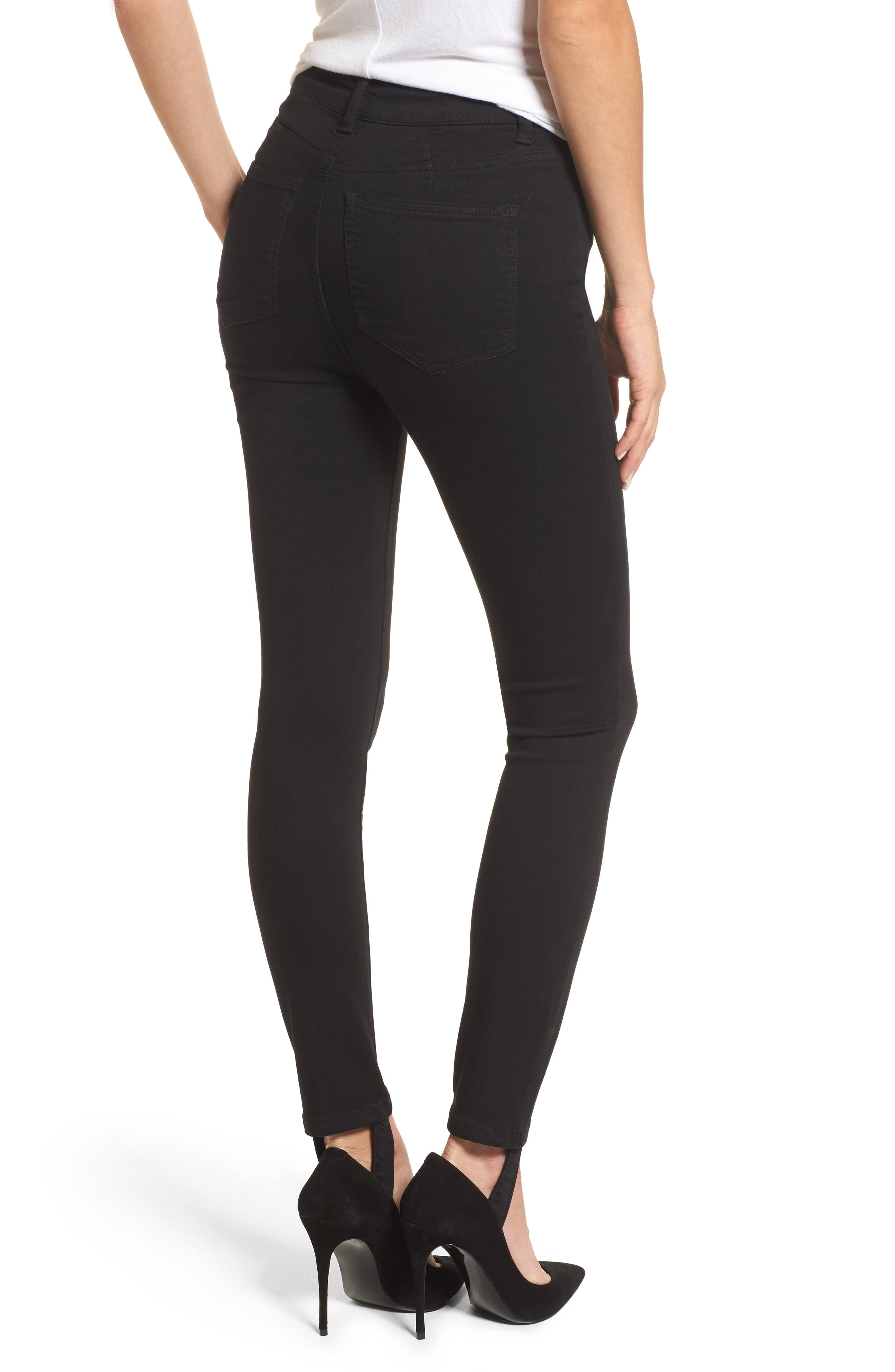Alternate Image 2  - AFRM Luma High Waist Skinny Stirrup Jeans