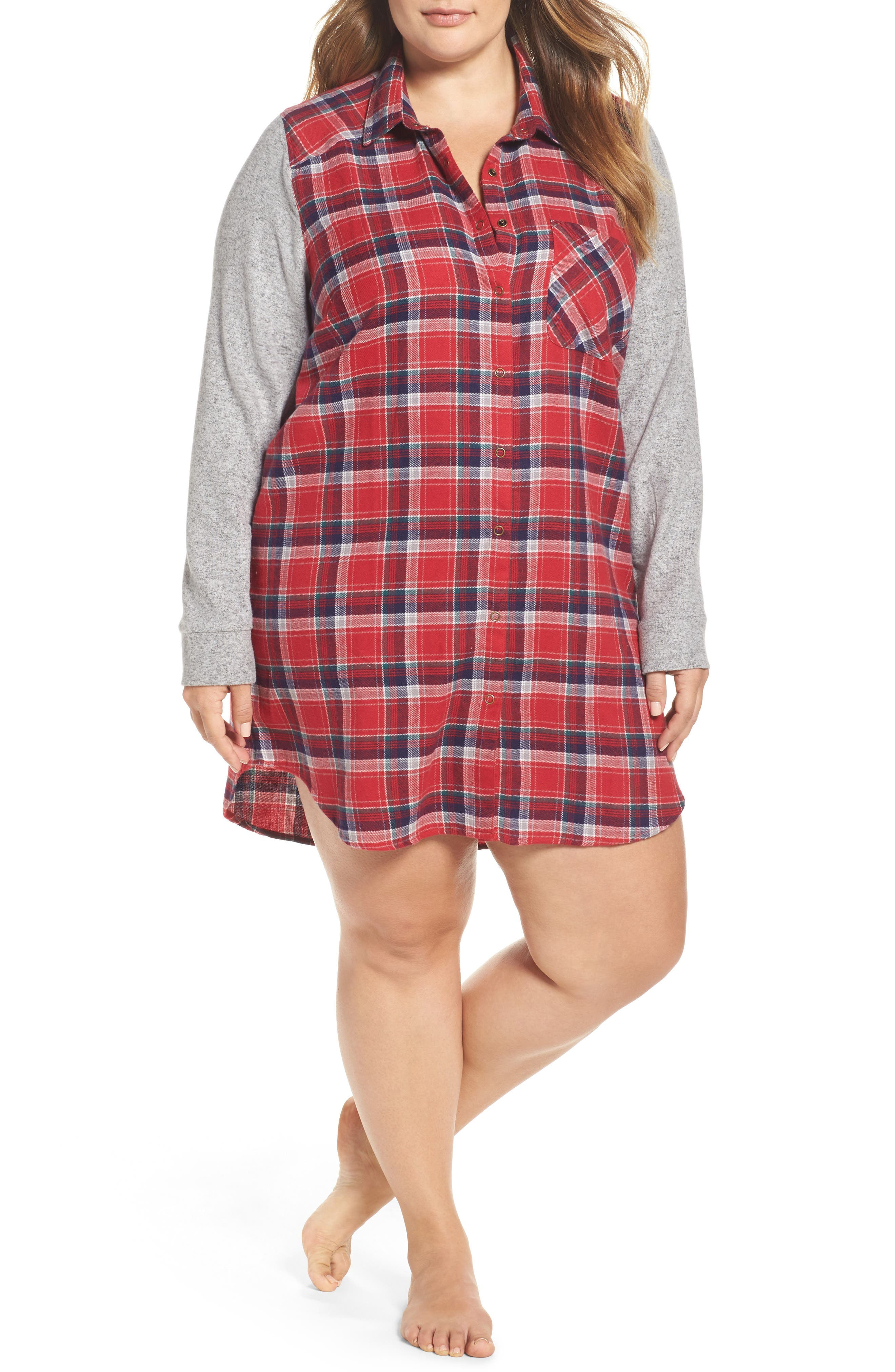 Make + Model Flannel Nightshirt (Plus Size)