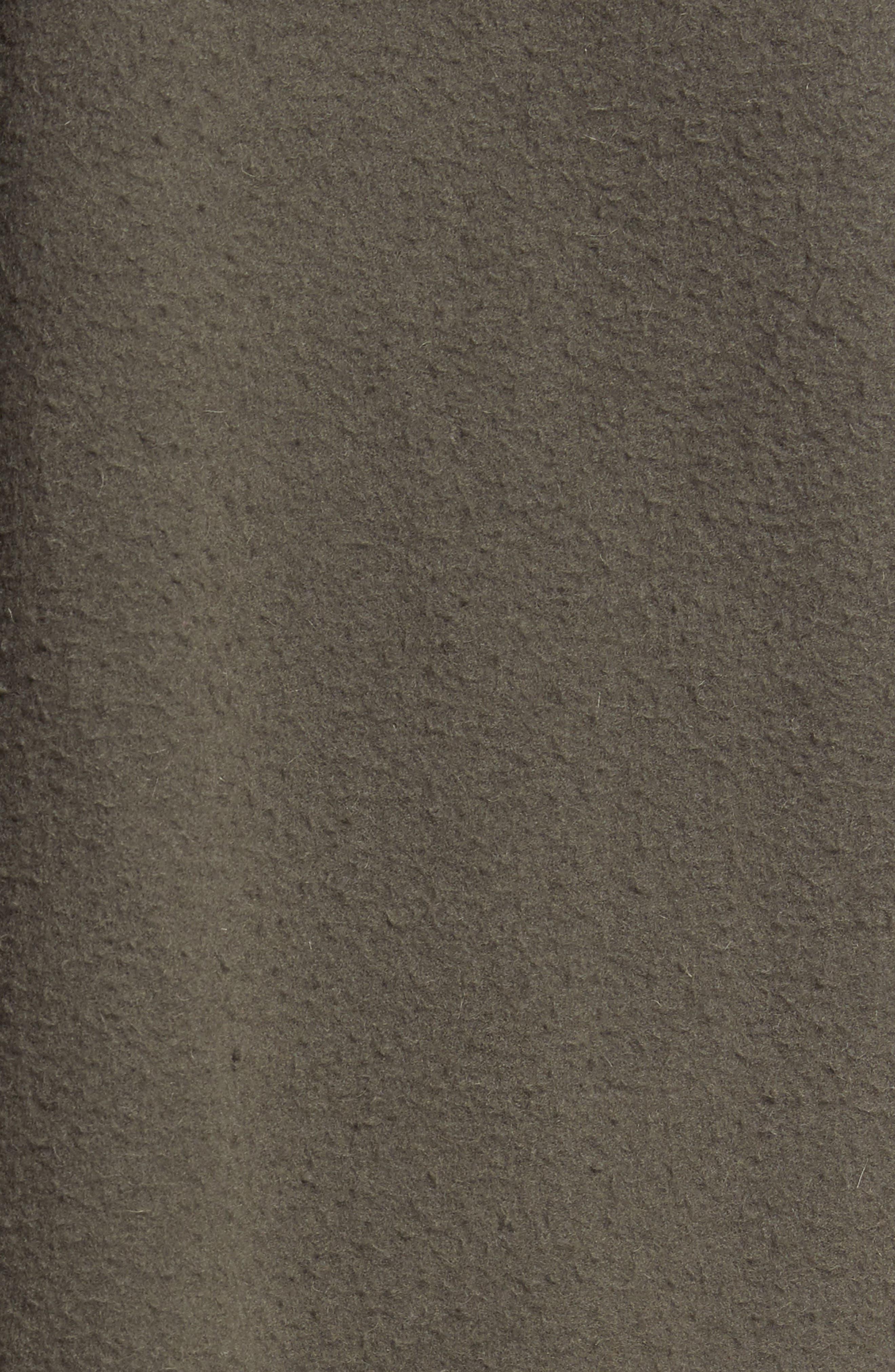 Distressed Wool Blend Car Coat,                             Alternate thumbnail 5, color,                             Olive
