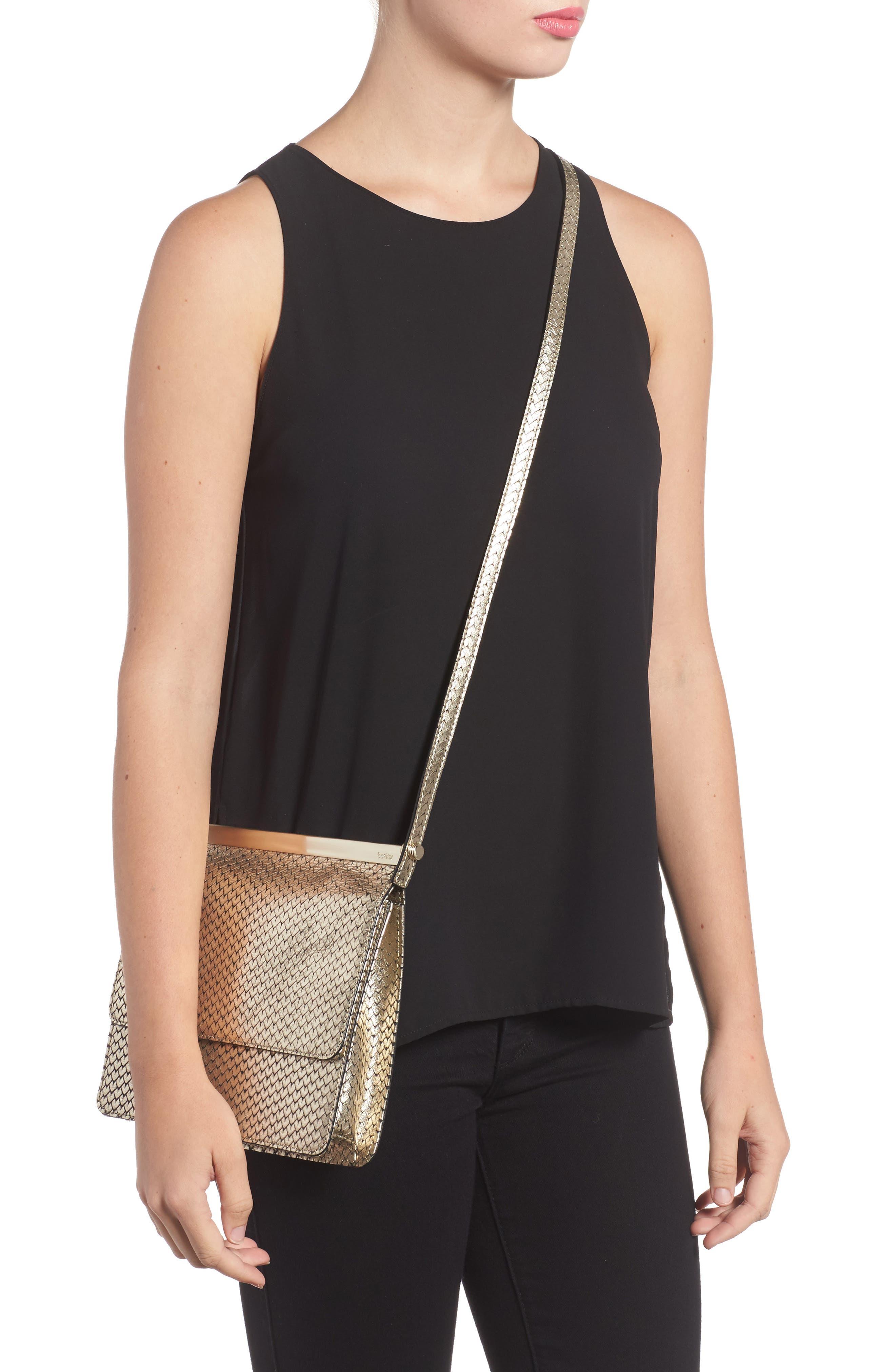 Crawford Calfskin Leather Crossbody Bag,                             Alternate thumbnail 2, color,                             Gold