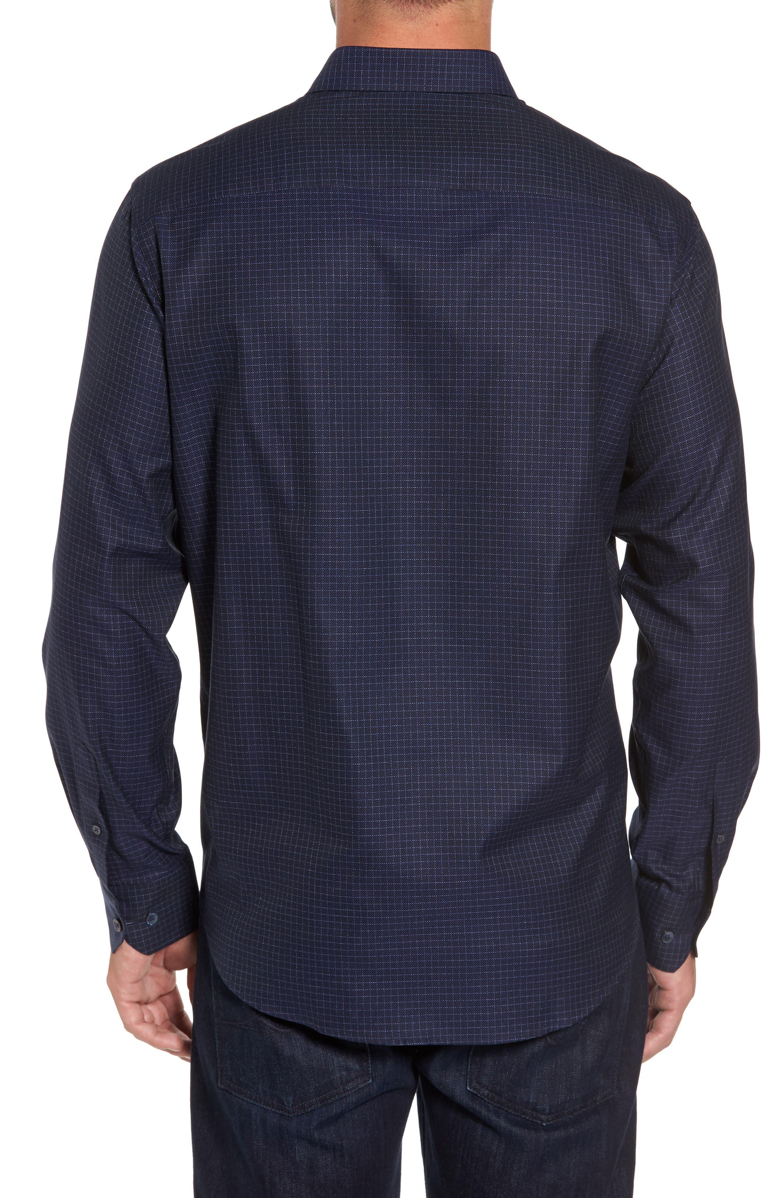 Classic Fit Sport Shirt,                             Alternate thumbnail 2, color,                             Midnight