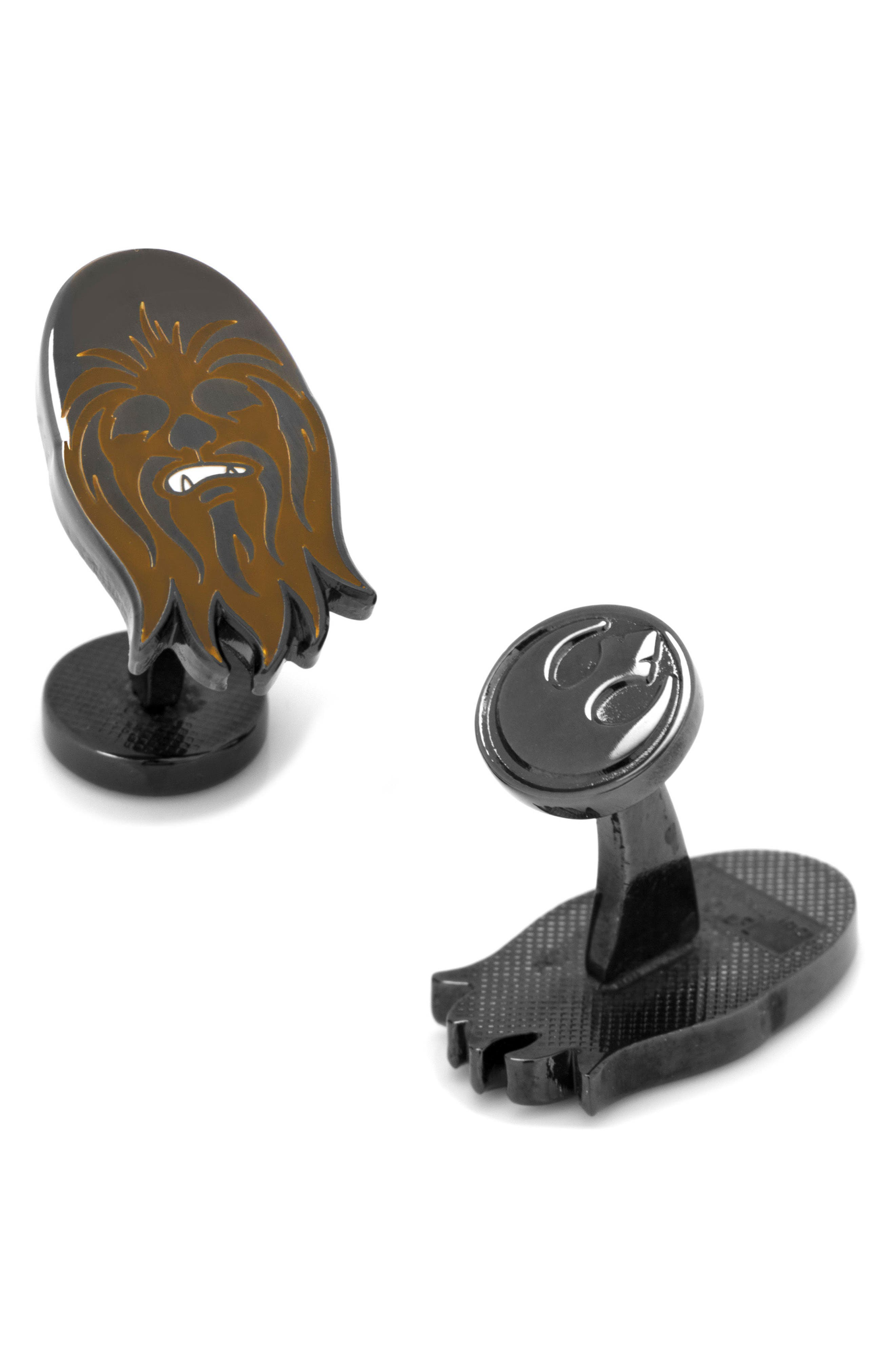 """""""Star Wars<sup>™</sup>"""" Chewbacca Cuff Links,                         Main,                         color, Brown"""