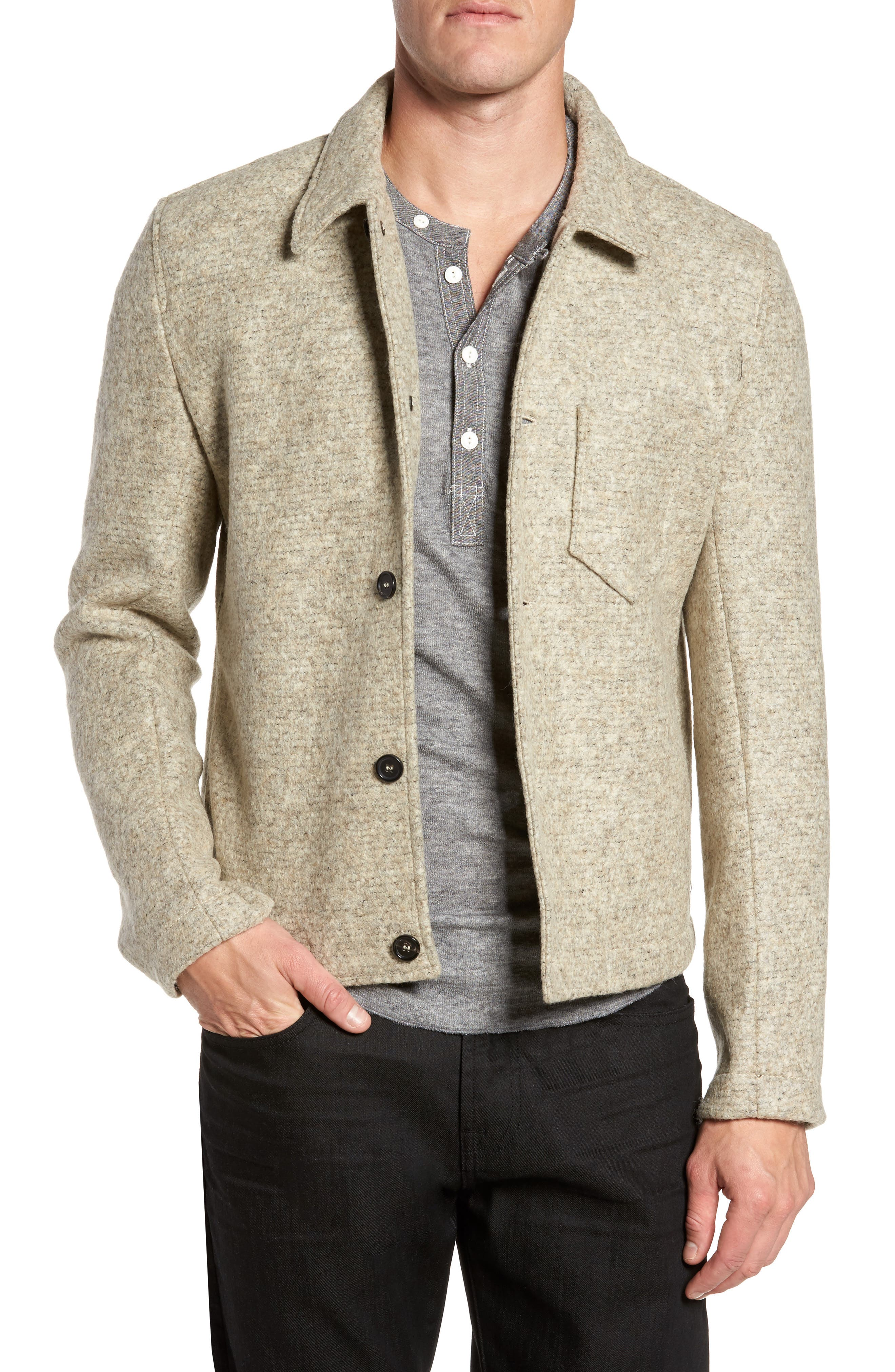 Gunner Wool Blend Jacket,                         Main,                         color, Beige
