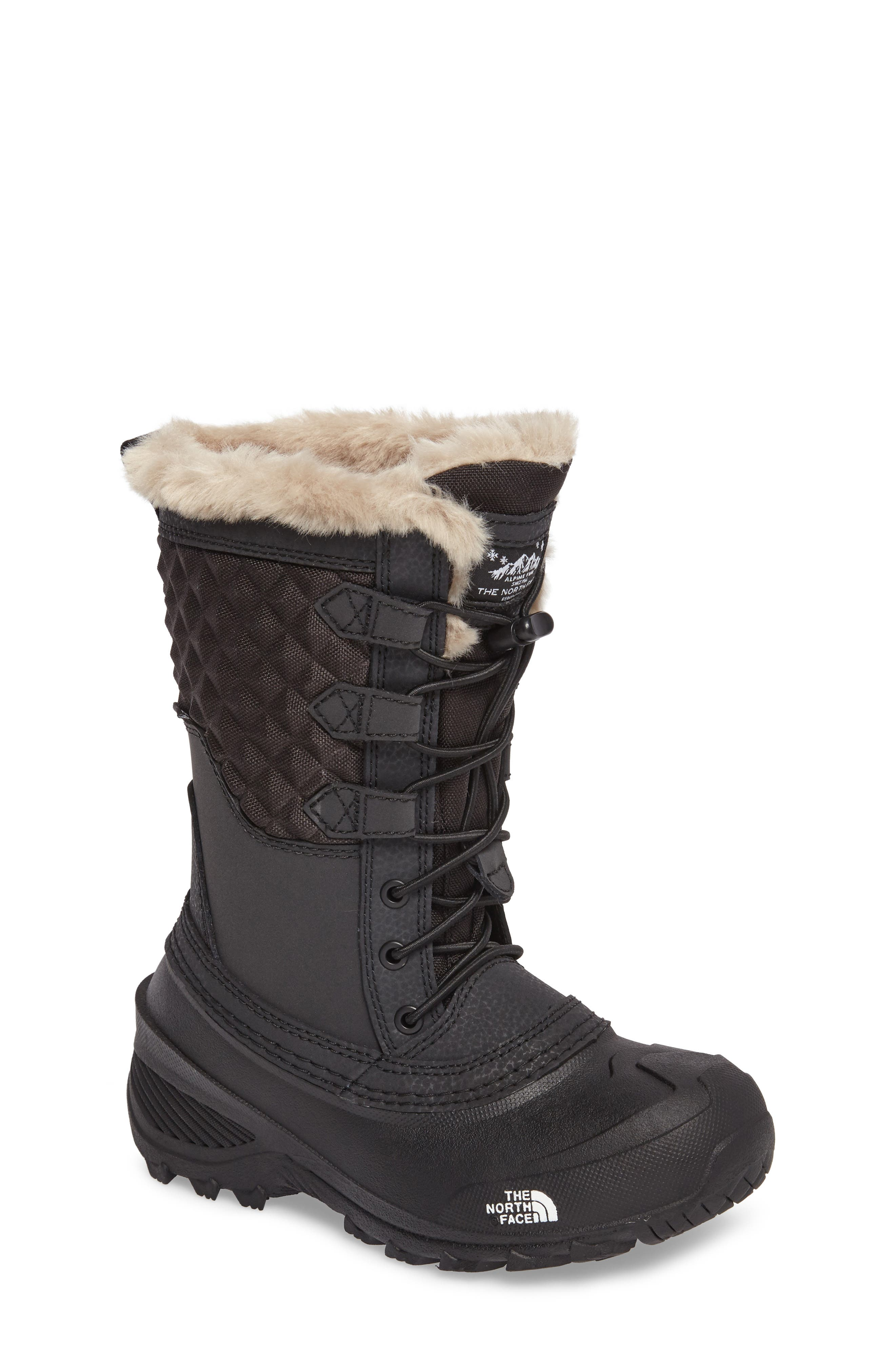 Alternate Image 1 Selected - The North Face Shellista Lace III Faux Fur Waterproof Boot (Toddler, Little Kid & Big Kid)