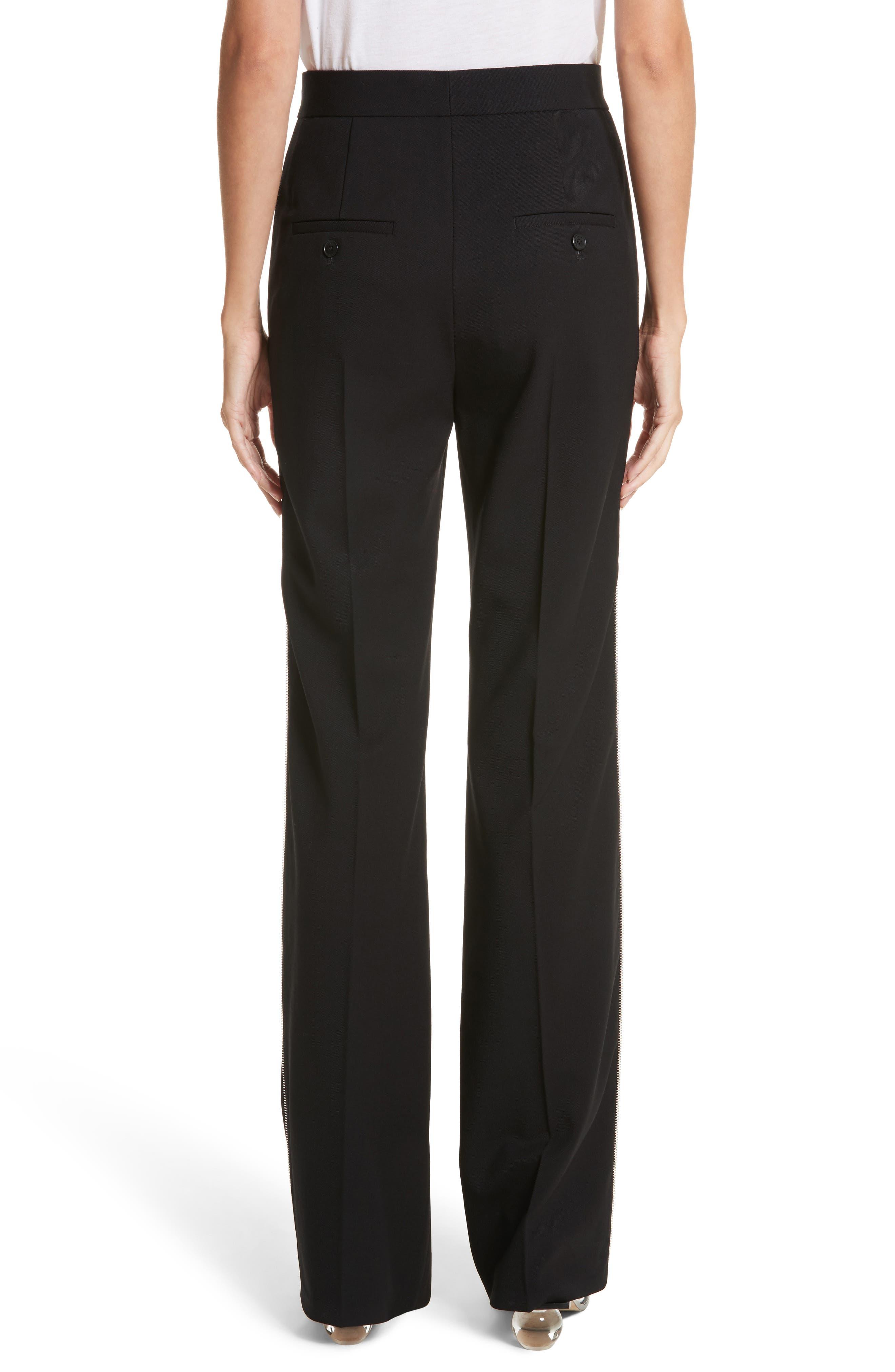 Side Zip Detail Suiting Pants,                             Alternate thumbnail 2, color,                             Black