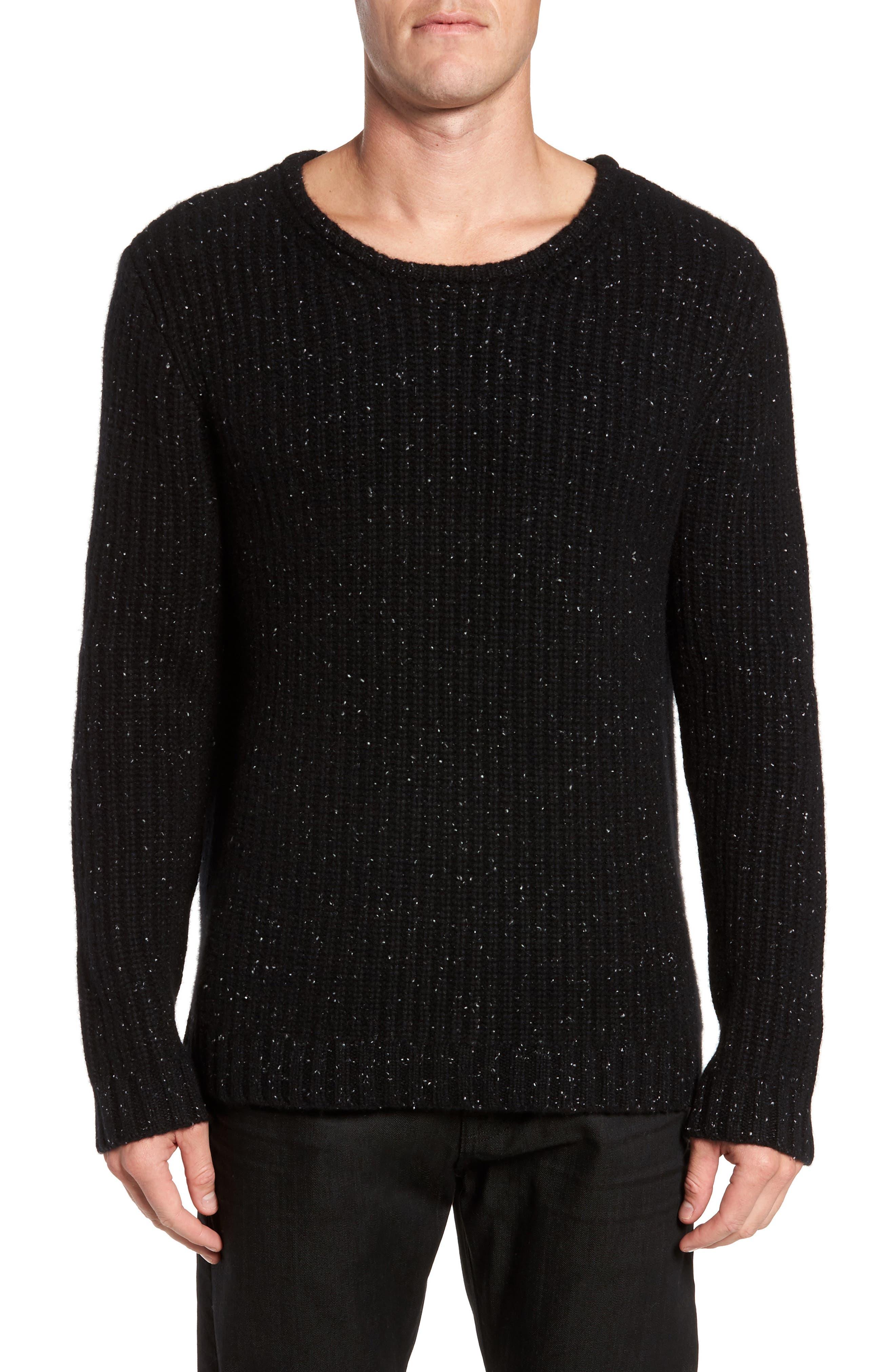 Oversize Cashmere Sweater,                         Main,                         color, Noir
