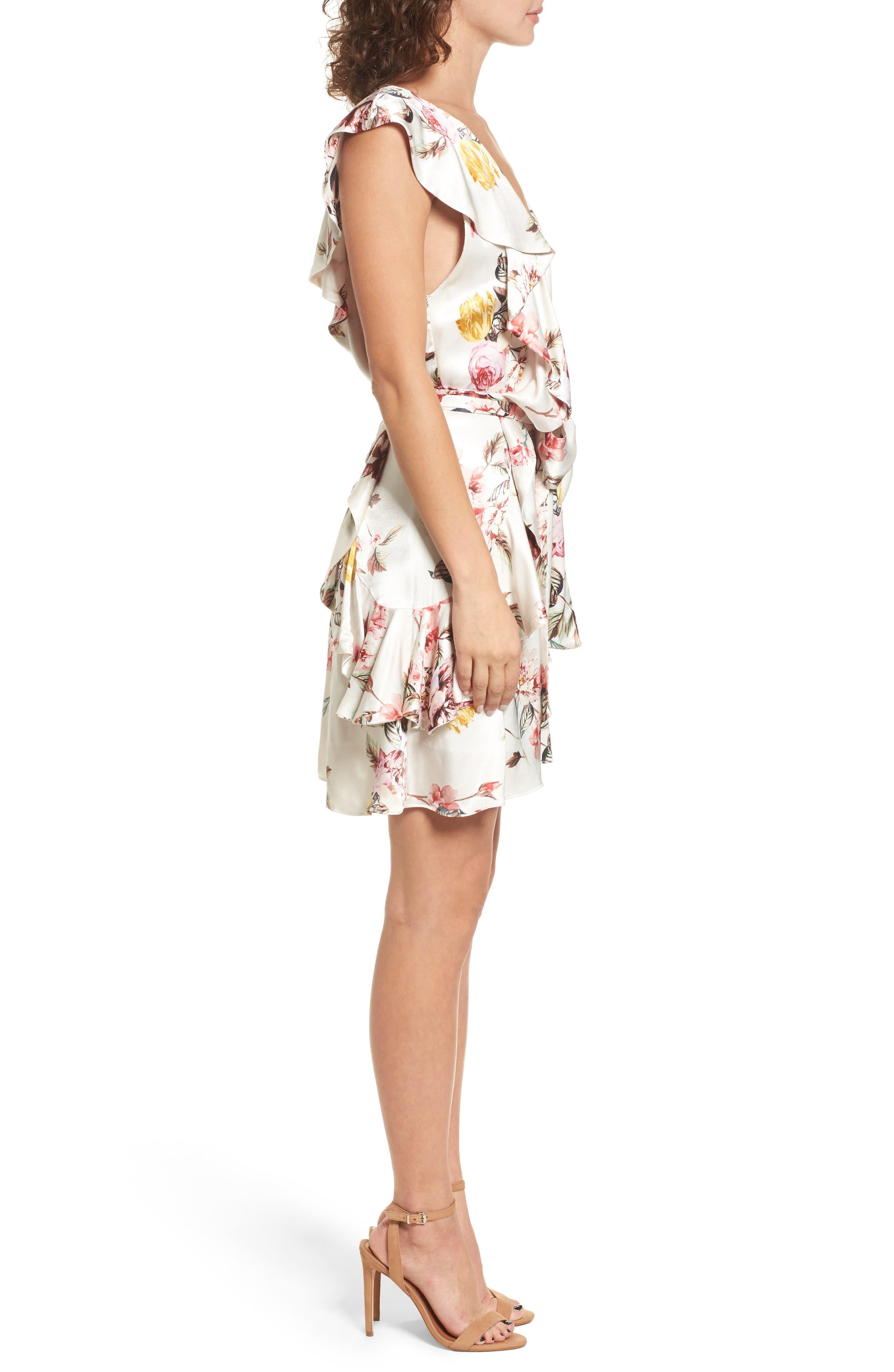 Clara Ruffle Dress,                             Alternate thumbnail 3, color,                             Primrose Blanc