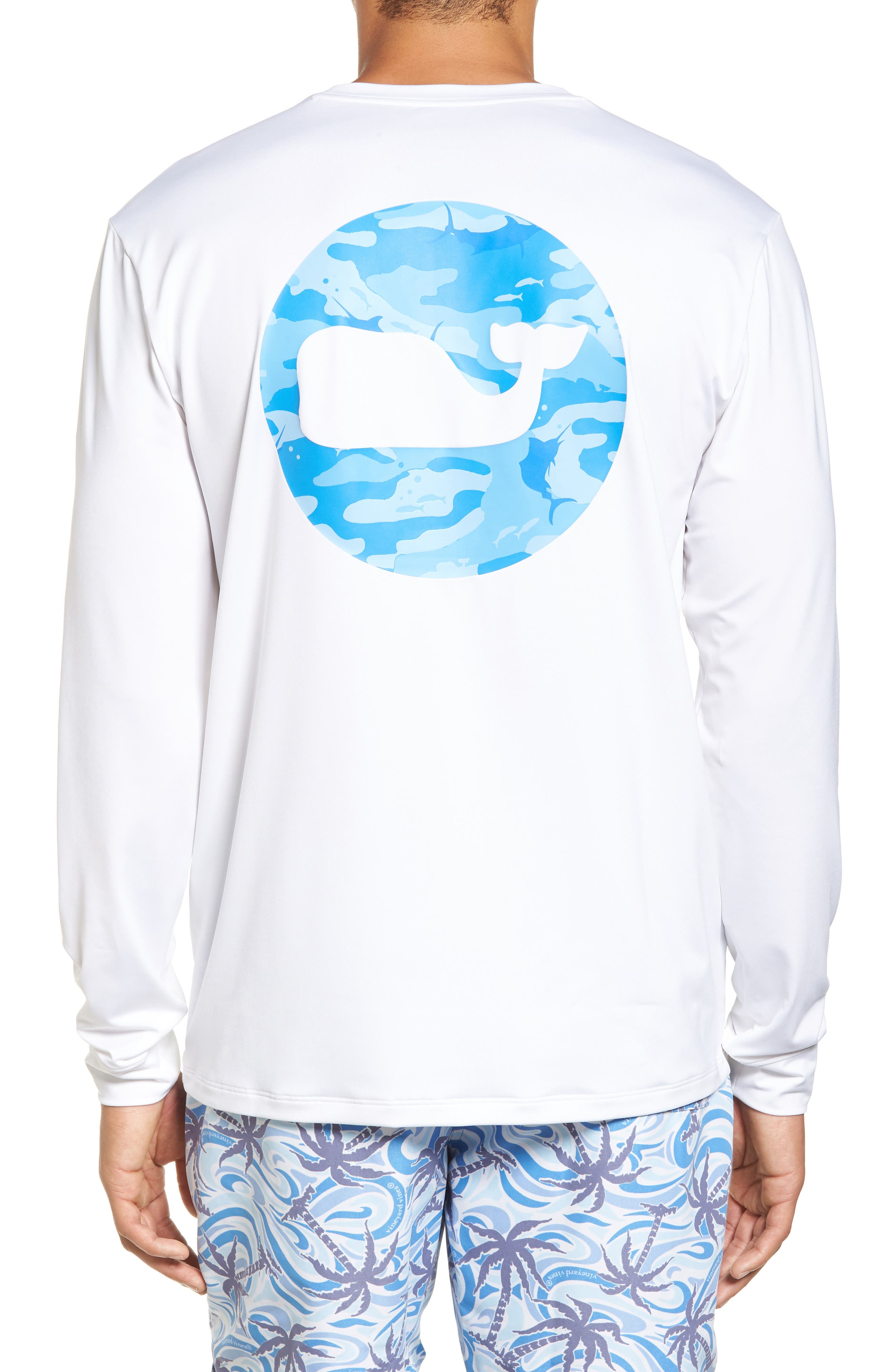 Marlin Whale Dot Performance T-Shirt,                         Main,                         color, White Cap