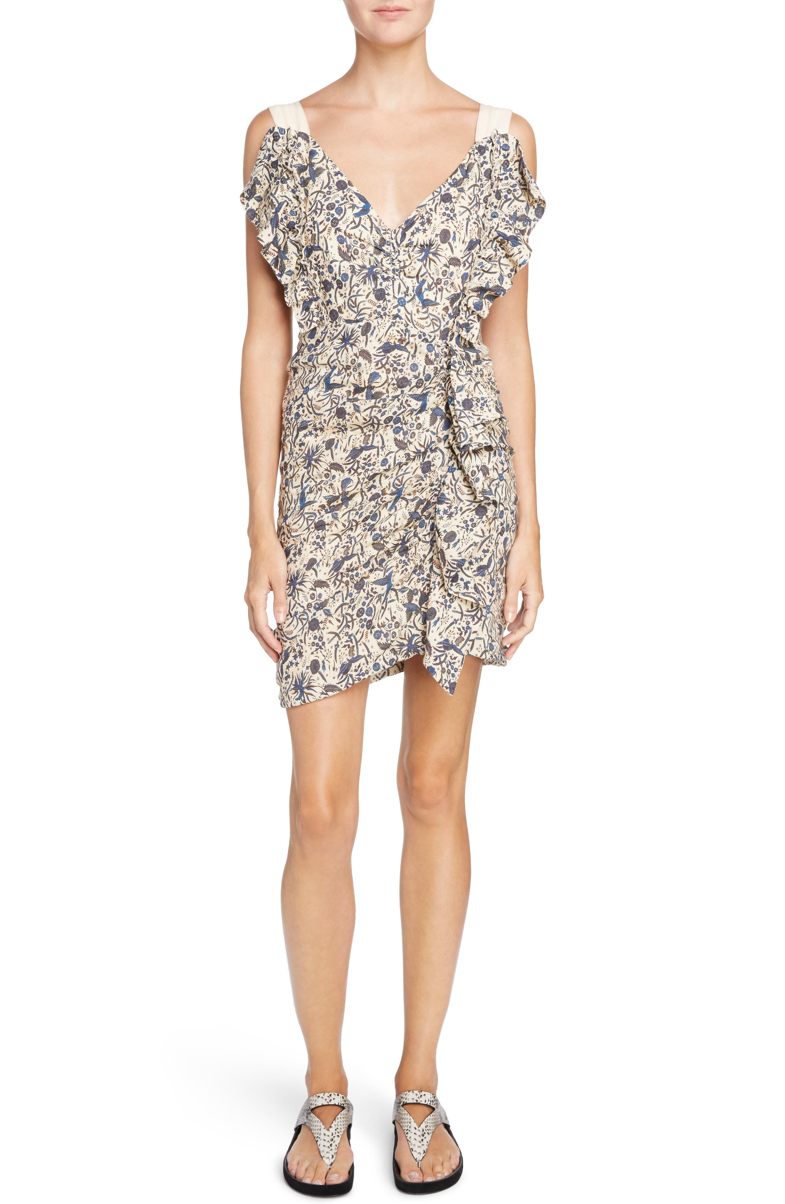 Main Image - Isabel Marant Étoile Topaz Print Linen Dress