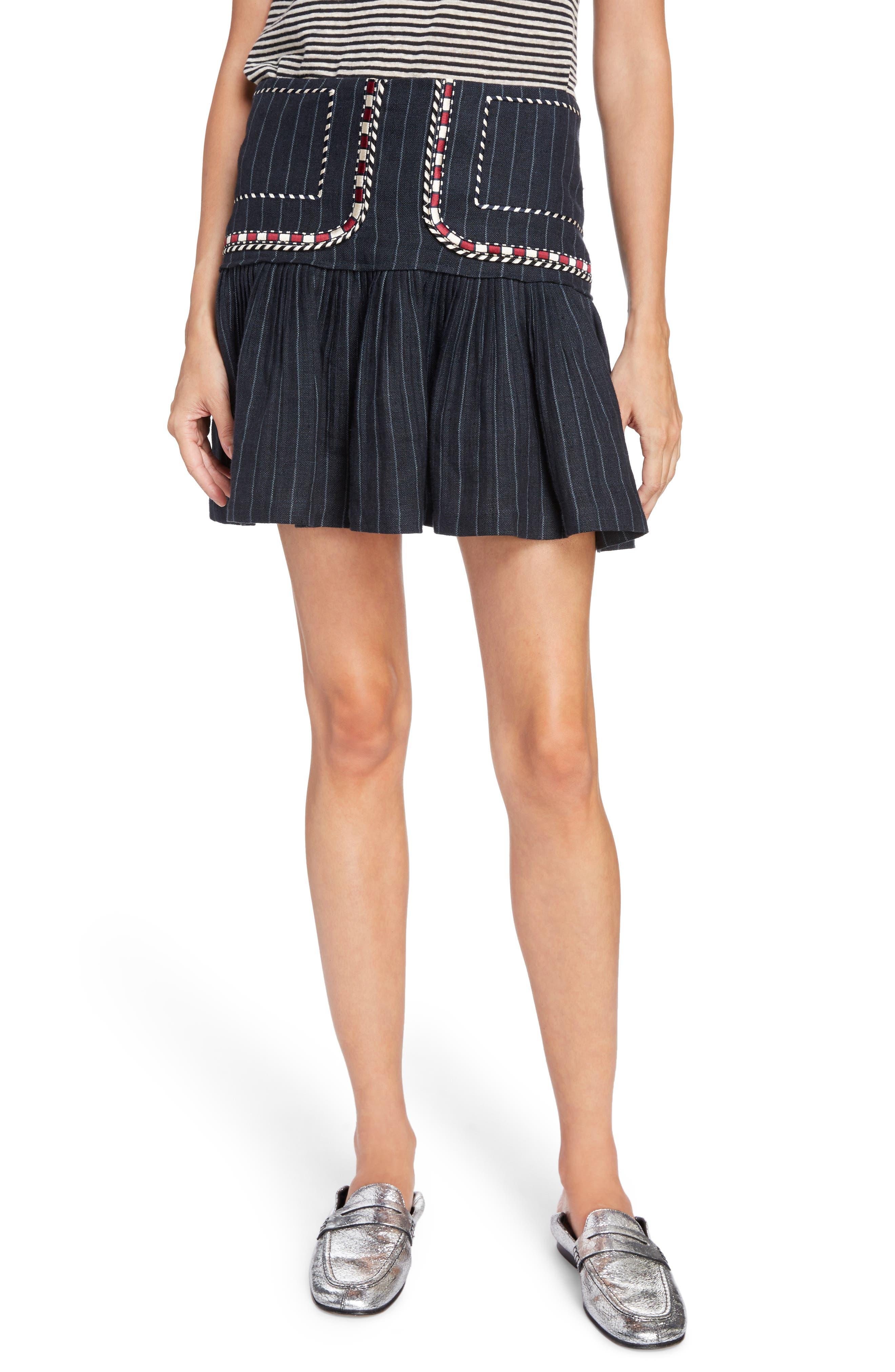 Alternate Image 1 Selected - Isabel Marant Étoile Jessie Embroidered Linen Skirt