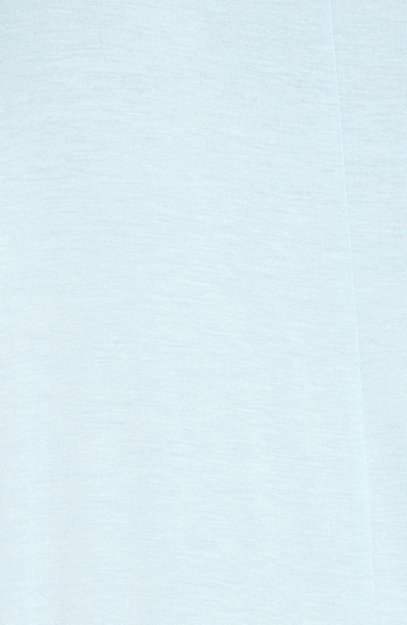 Pleat Front Tee,                             Alternate thumbnail 5, color,                             Blue Crystal