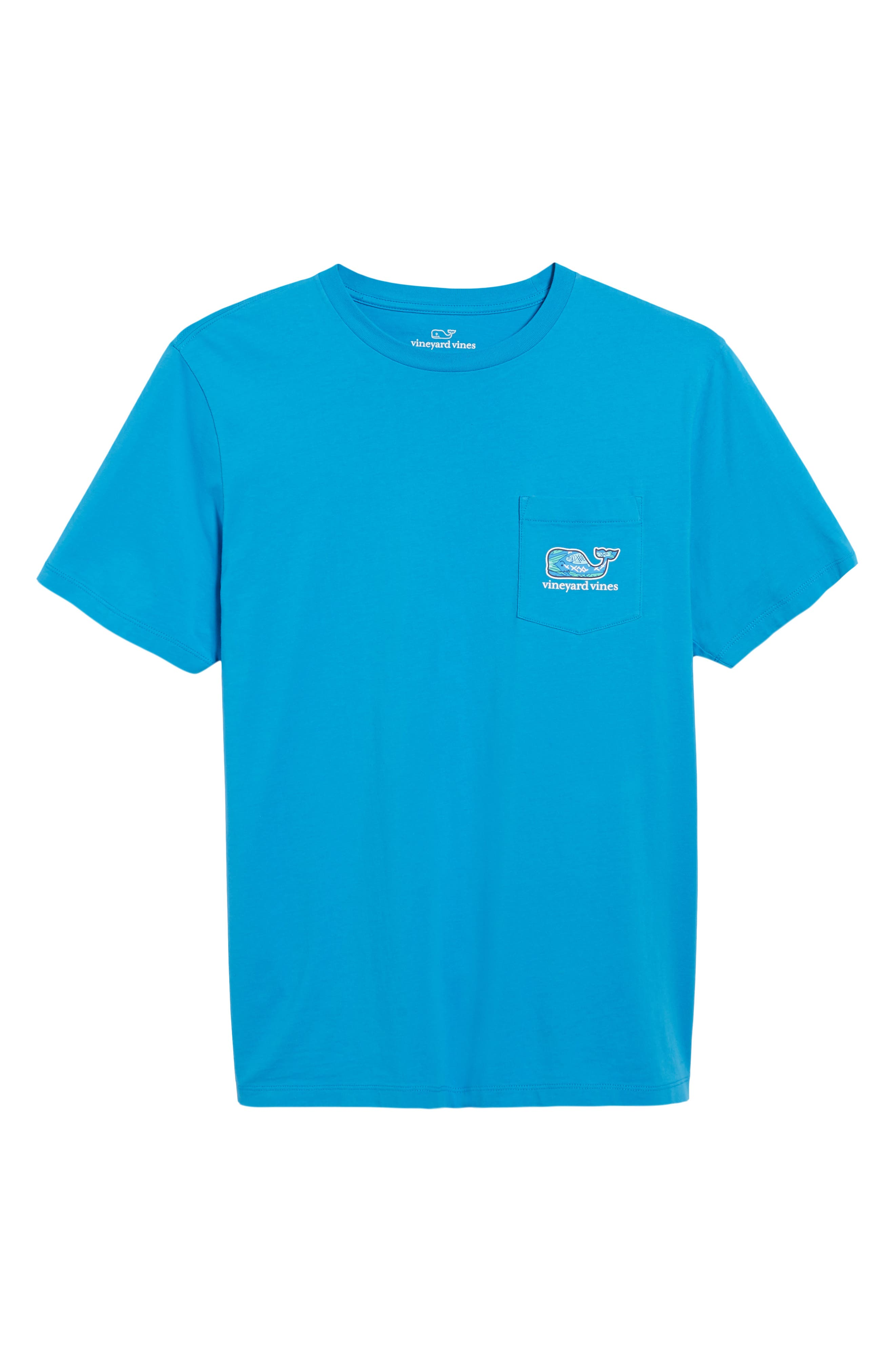 Fish Scale Whale Fill Pocket T-Shirt,                             Alternate thumbnail 6, color,                             Cay Blue