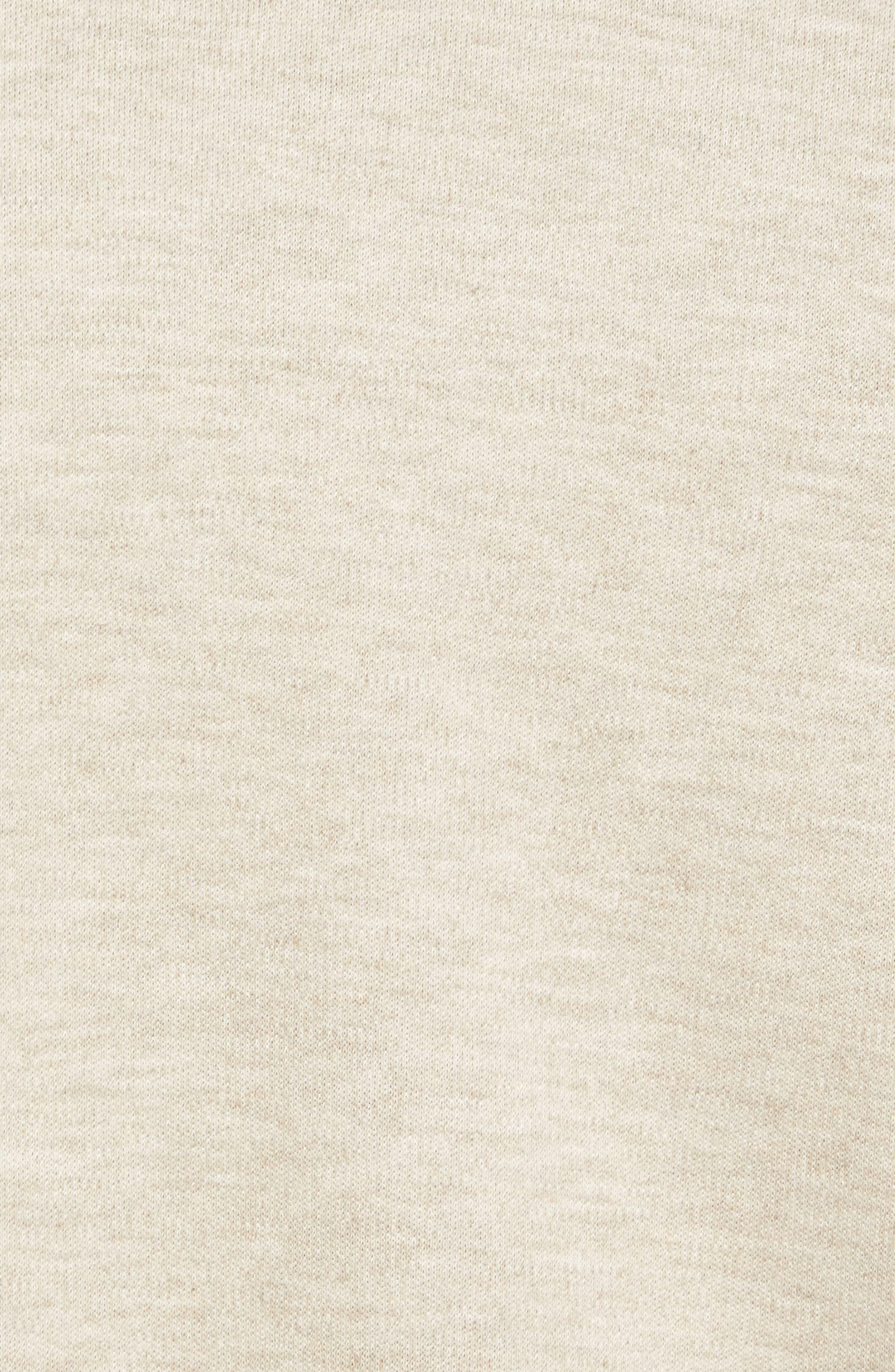 'Longitude' Flap Pocket Fleece Shirt,                             Alternate thumbnail 5, color,                             Bamboo Ivory