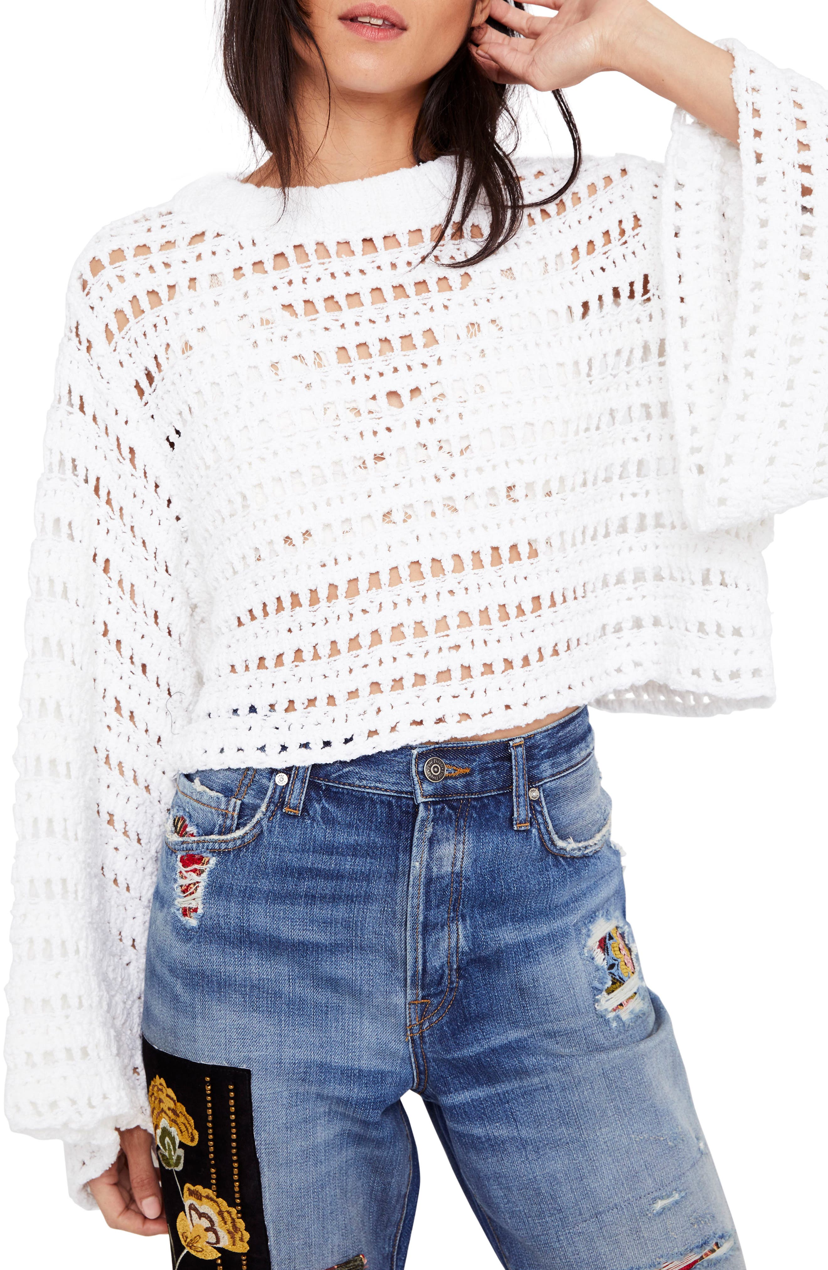 Alternate Image 2  - Free People Caught Up Crochet Top