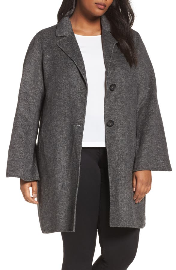 Tahari Jayden Car Coat (Plus Size) | Nordstrom
