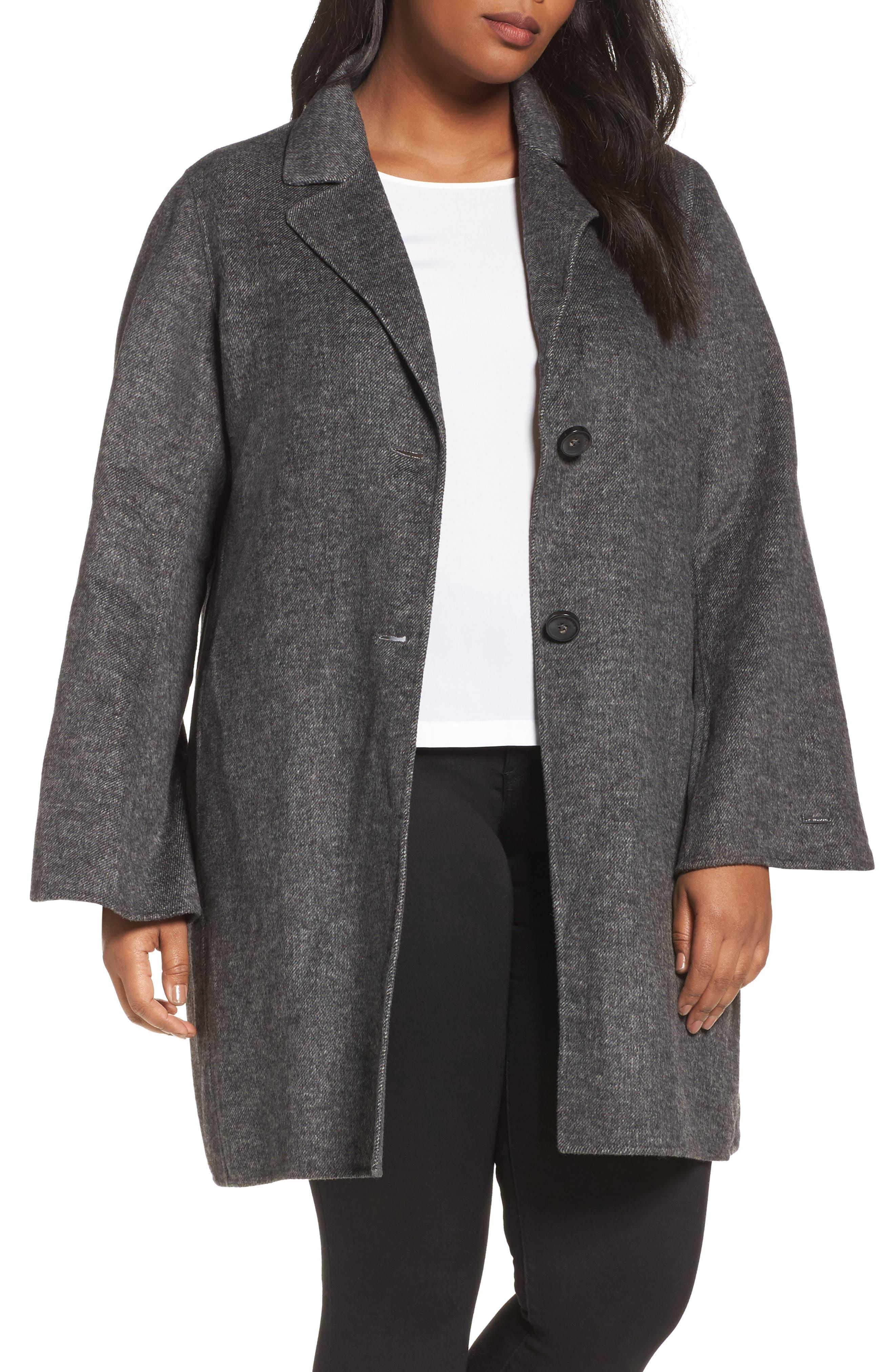 Tahari Jayden Car Coat (Plus Size)