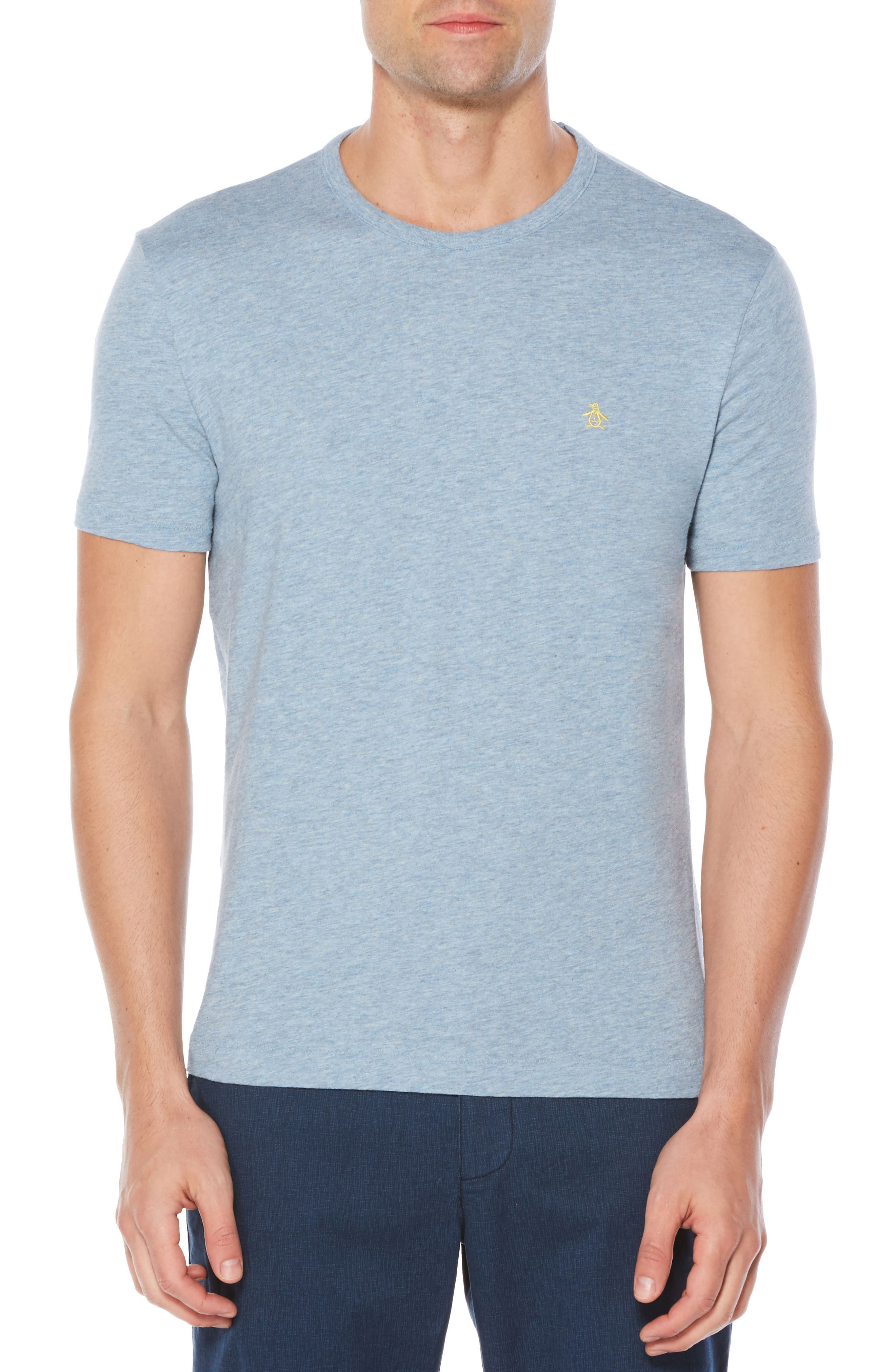 Slub Cotton T-Shirt,                             Main thumbnail 1, color,                             Faded Denim