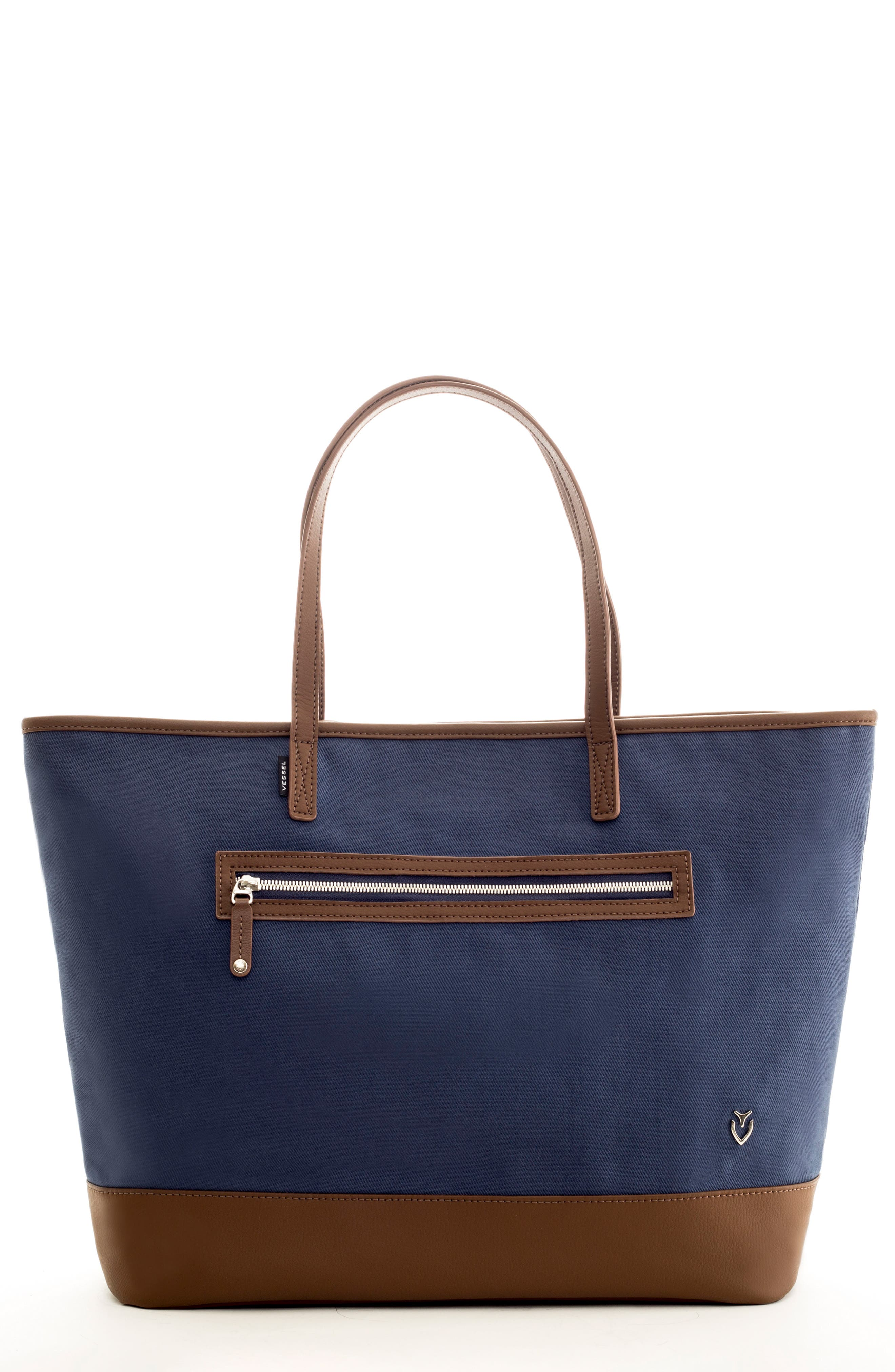 Refined Tote Bag,                             Main thumbnail 1, color,                             Navy