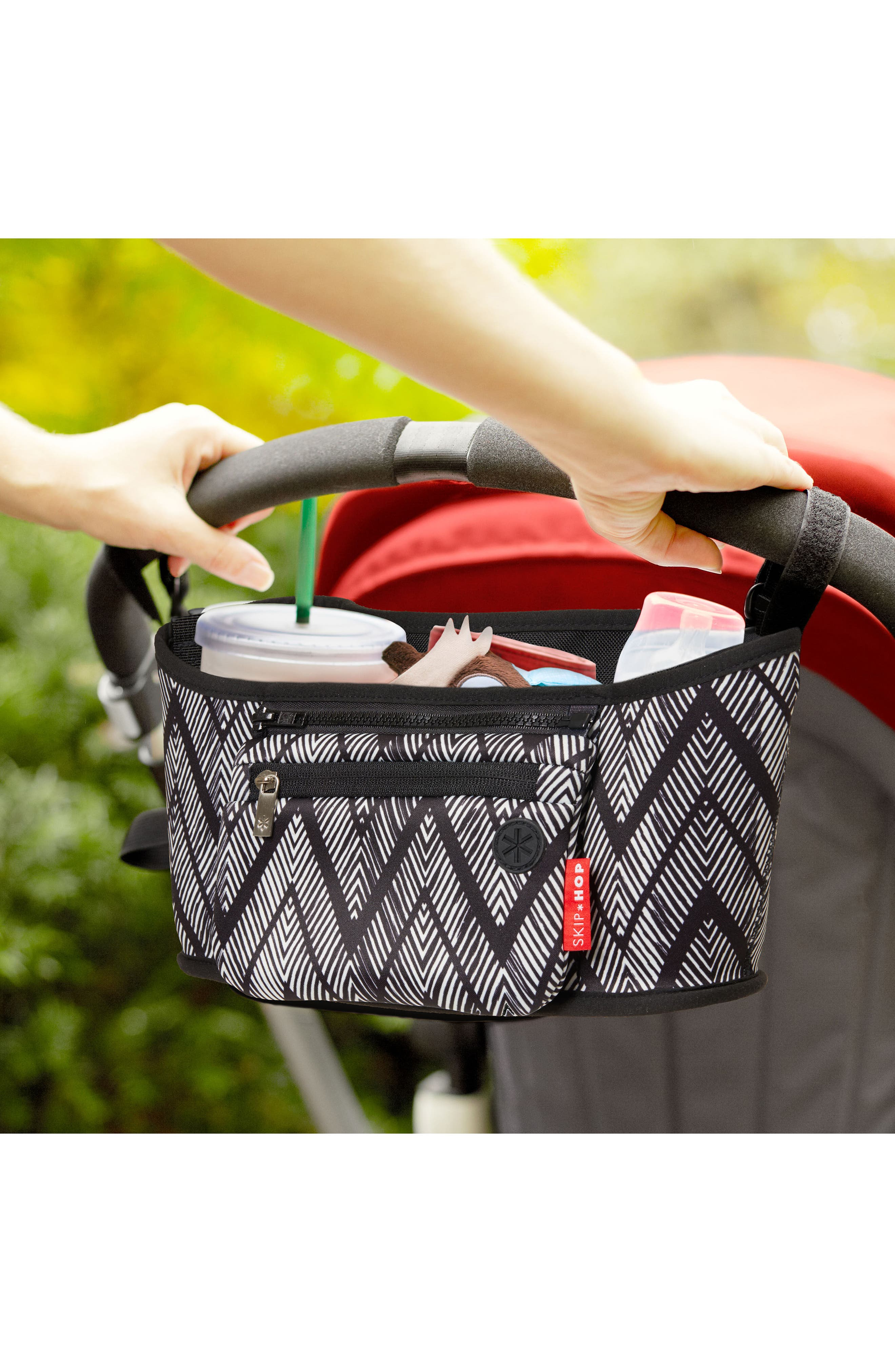 Stroller Organizer,                             Alternate thumbnail 4, color,                             Zig Zag Zebra