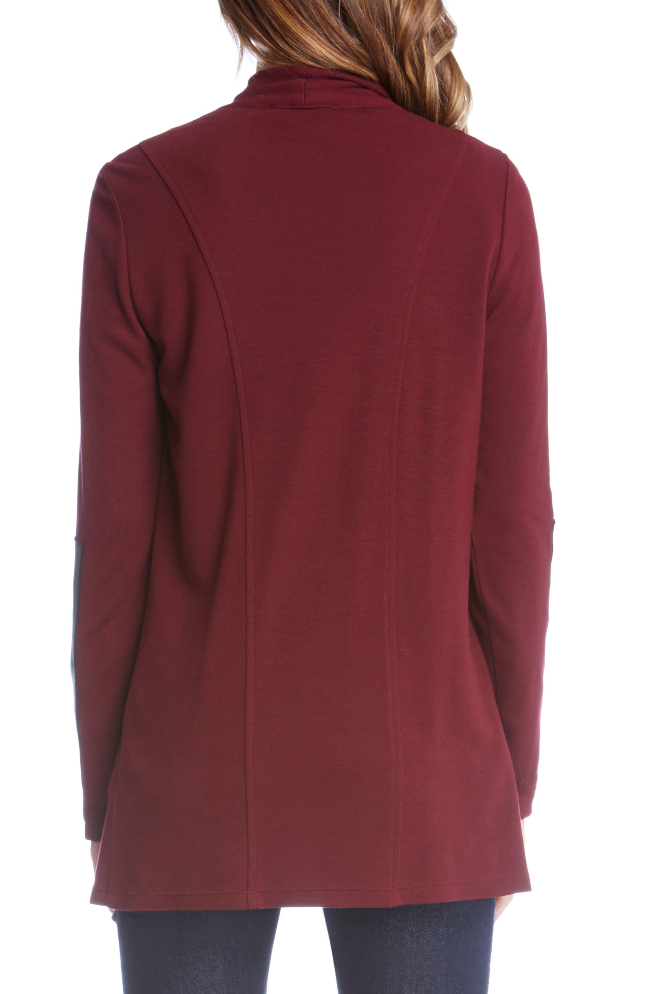 Alternate Image 2  - Karen Kane Faux Leather Detail Jacket