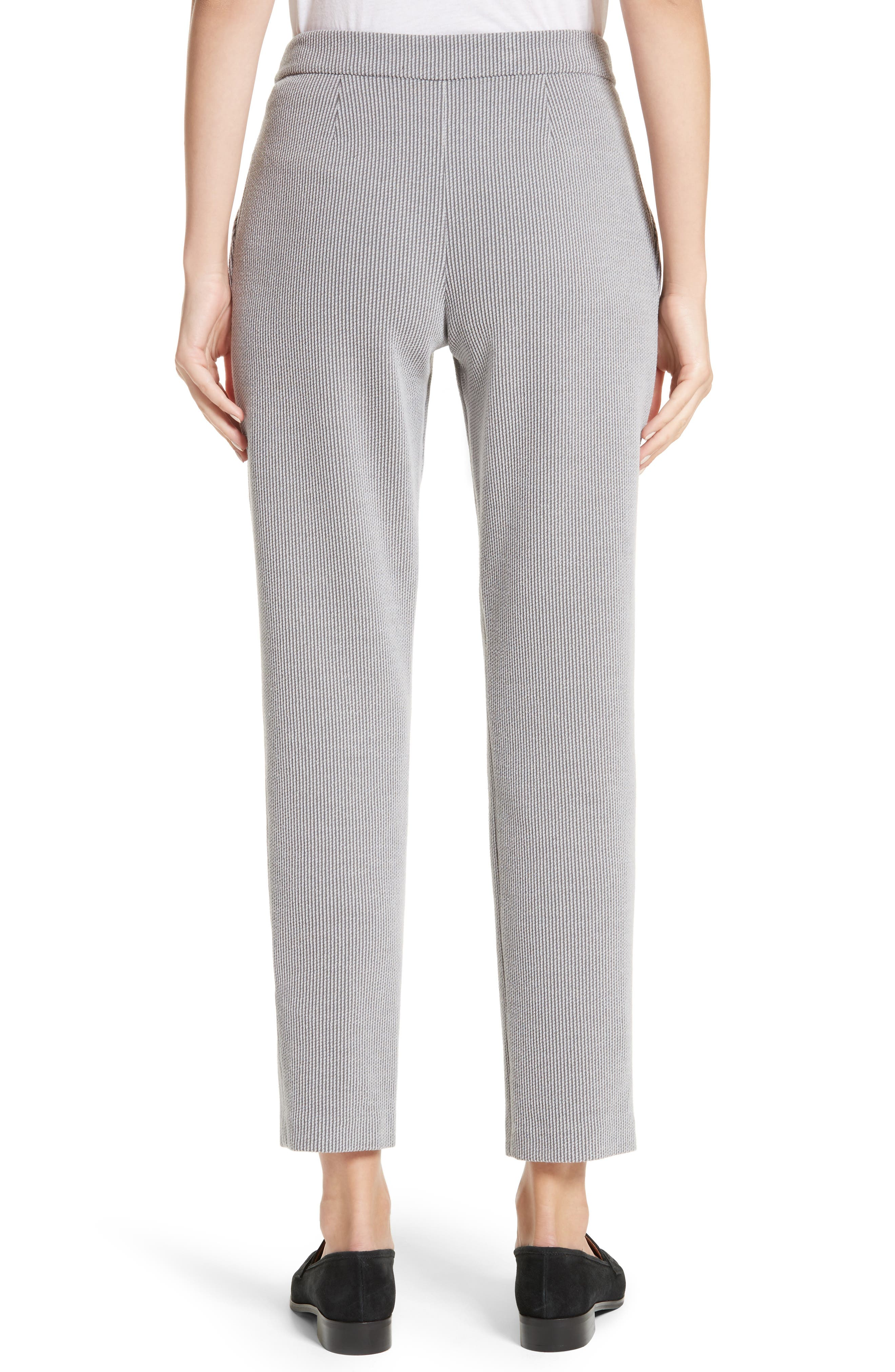 Pleated Stripe Jacquard Pants,                             Alternate thumbnail 2, color,                             Grey Multi