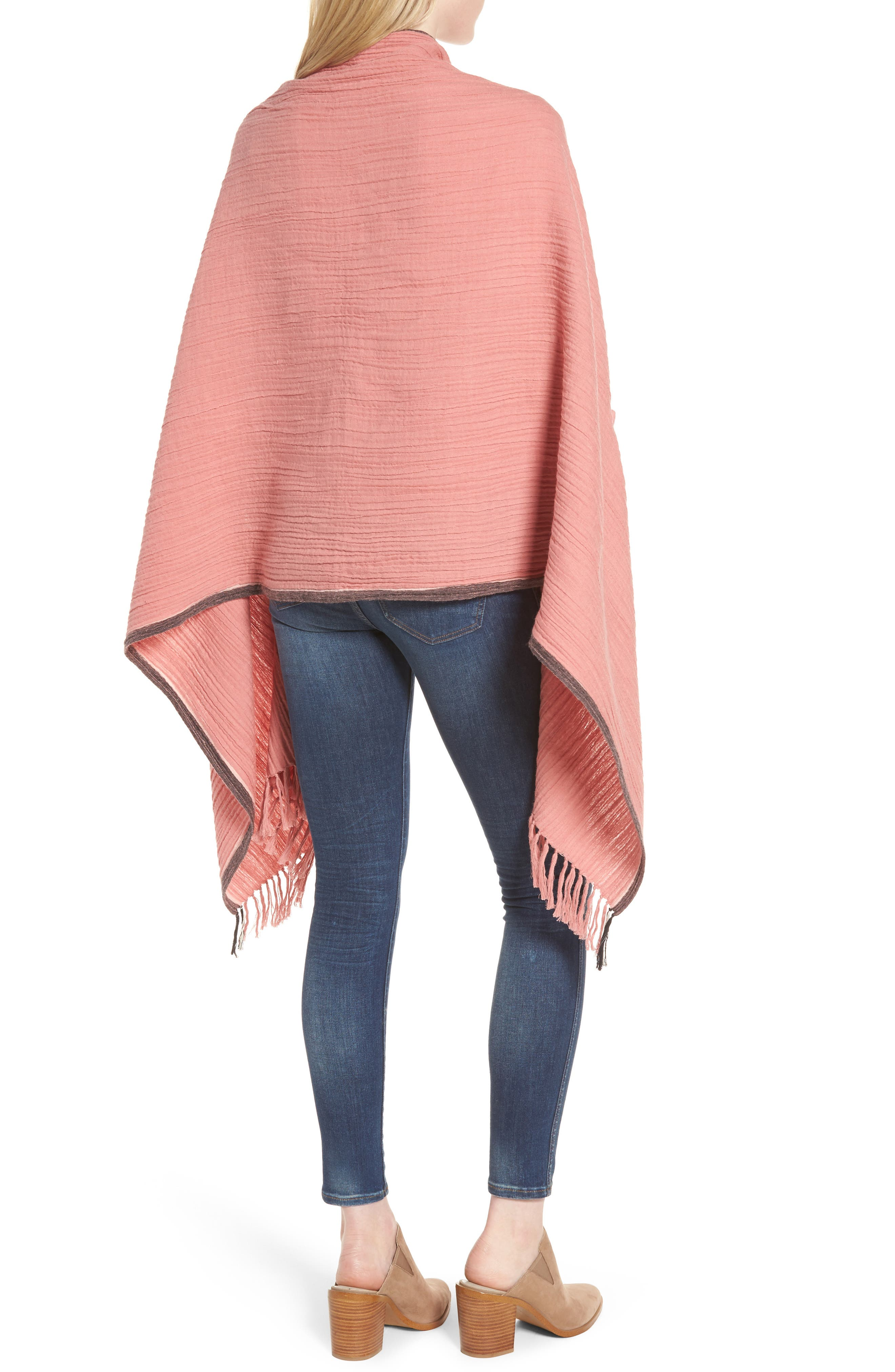 Alternate Image 2  - Madewell Selvedge Poncho Scarf