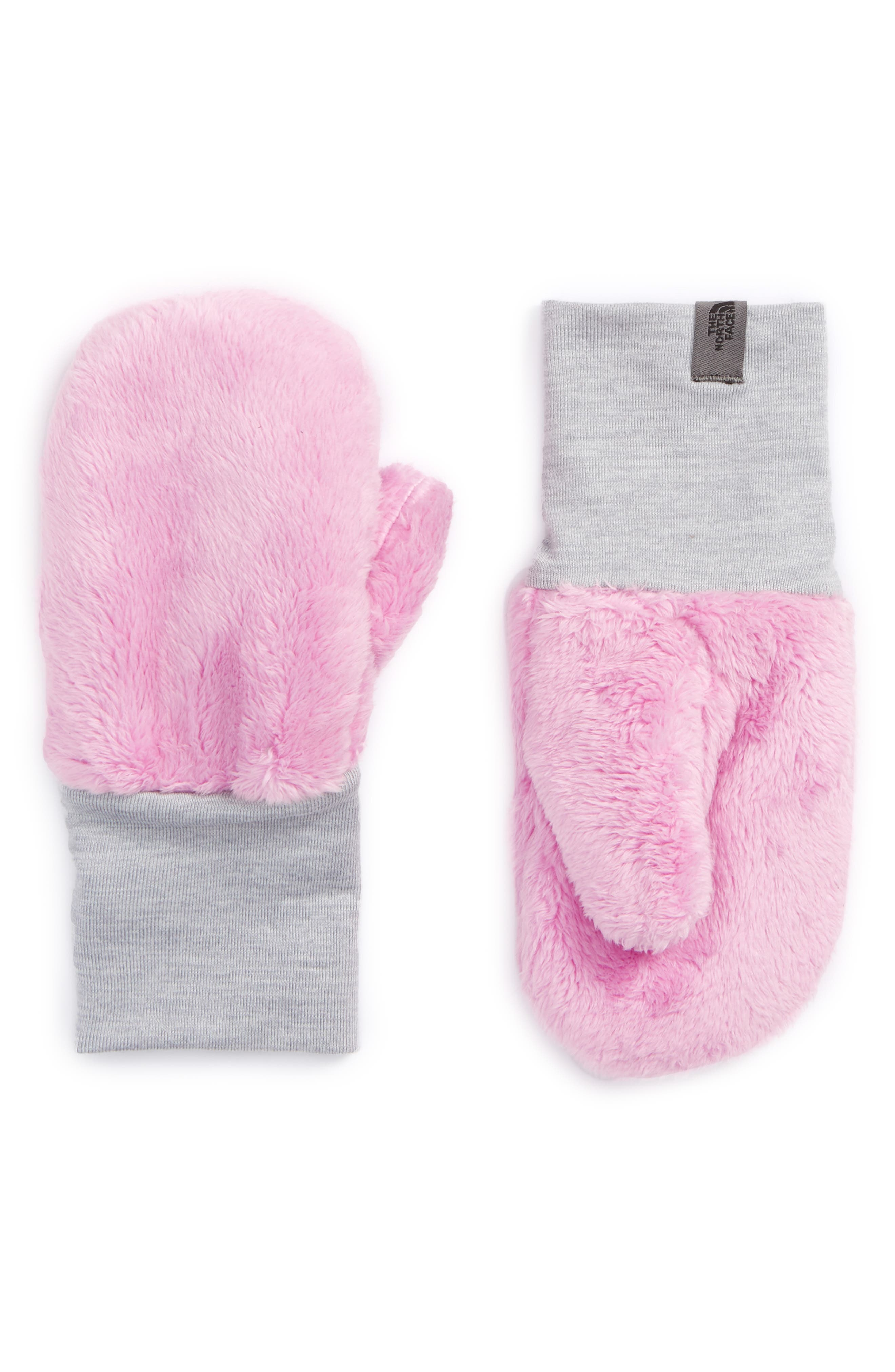 Main Image - The North Face Osilito High Loft Fleece Mittens (Toddler Girls)