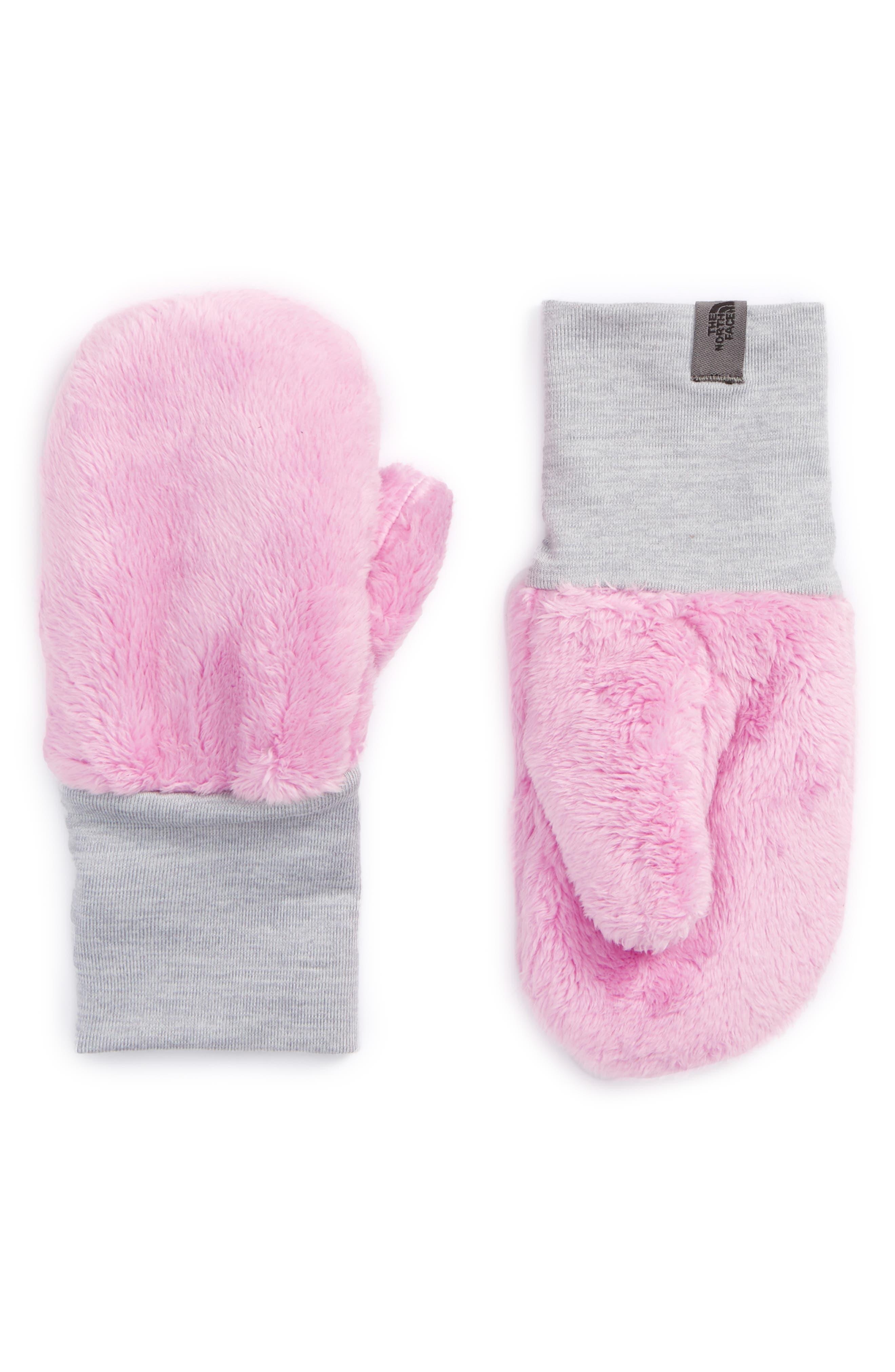 Osilito High Loft Fleece Mittens,                         Main,                         color, Lilac Pink