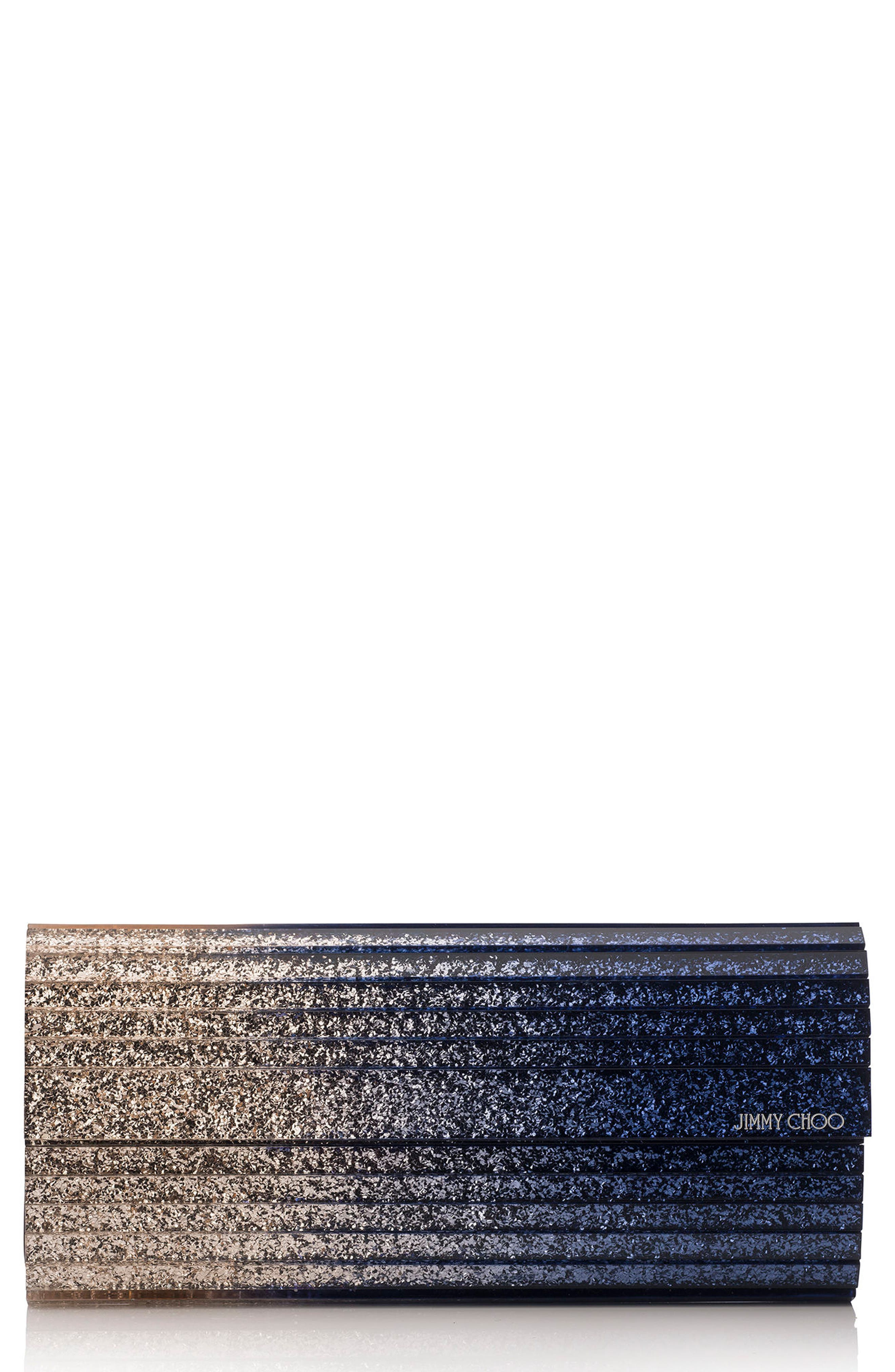 'Sweetie' Clutch,                             Main thumbnail 1, color,                             Silver/ Navy
