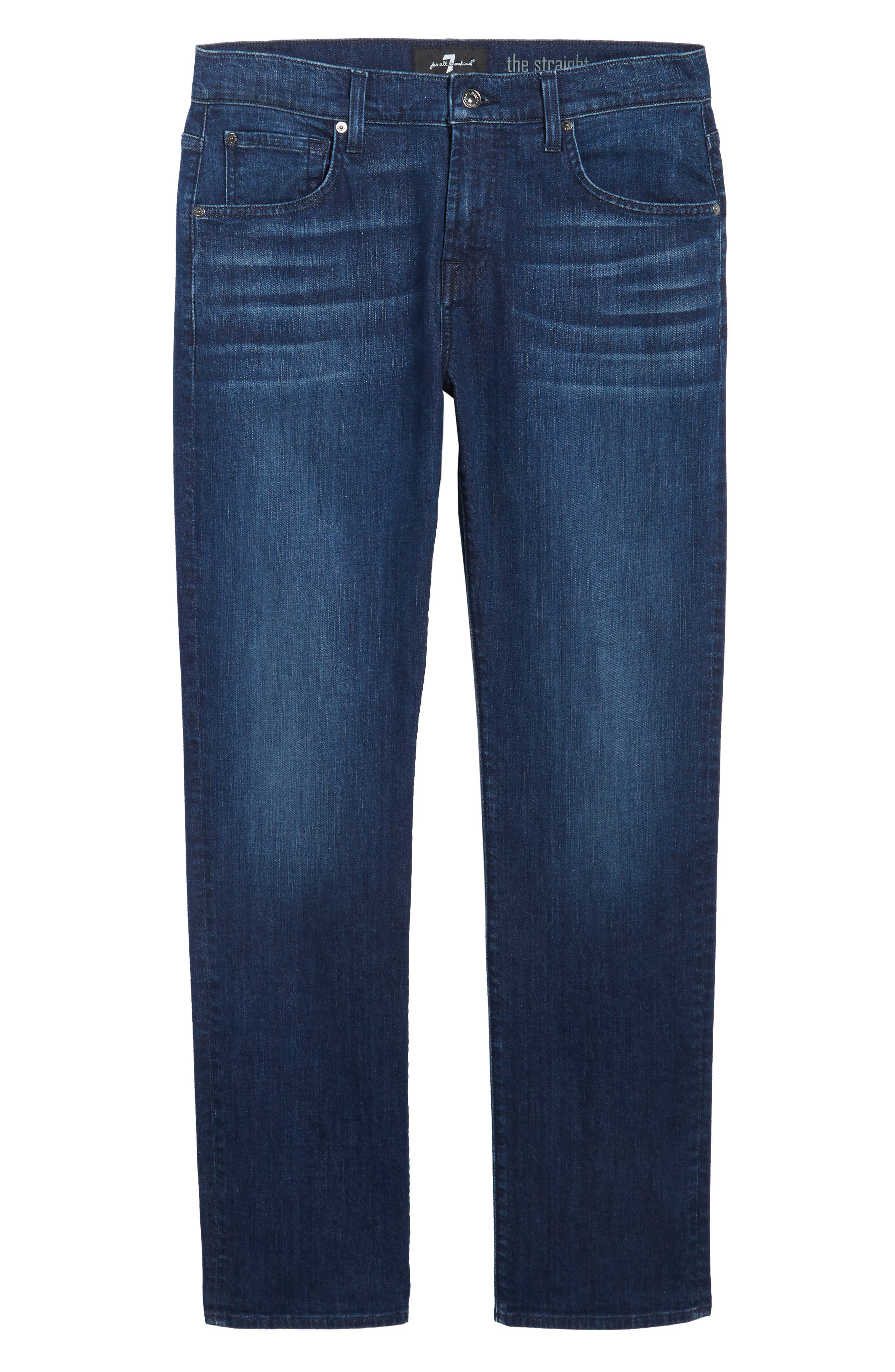 Alternate Image 6  - 7 For All Mankind® The Straight Slim Straight Fit Jeans (Montauk)