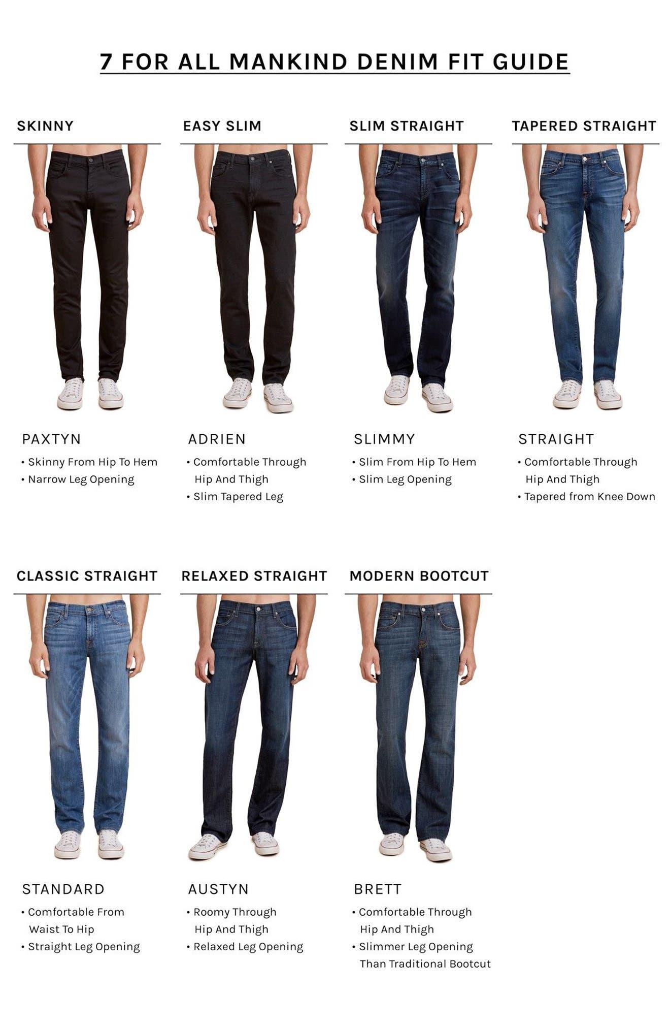 Alternate Image 7  - 7 For All Mankind® The Straight Slim Straight Leg Jeans (Dark Current)